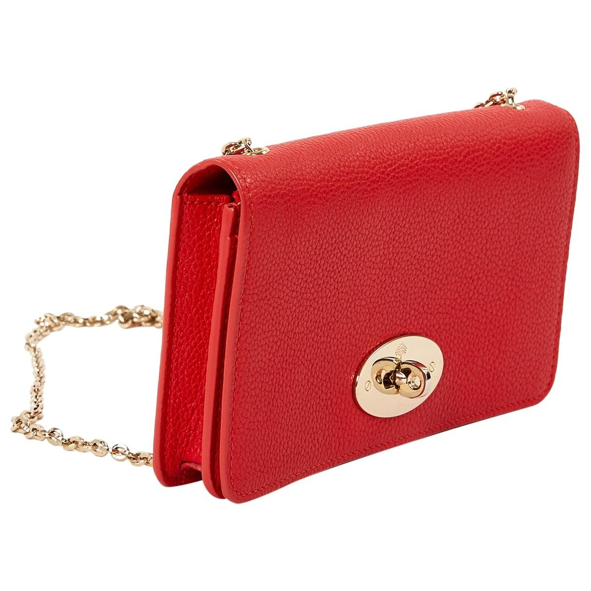 Mulberry. Women s Red Leather Clutch Bag.  307 From Vestiaire Collective b696ef7f980e1