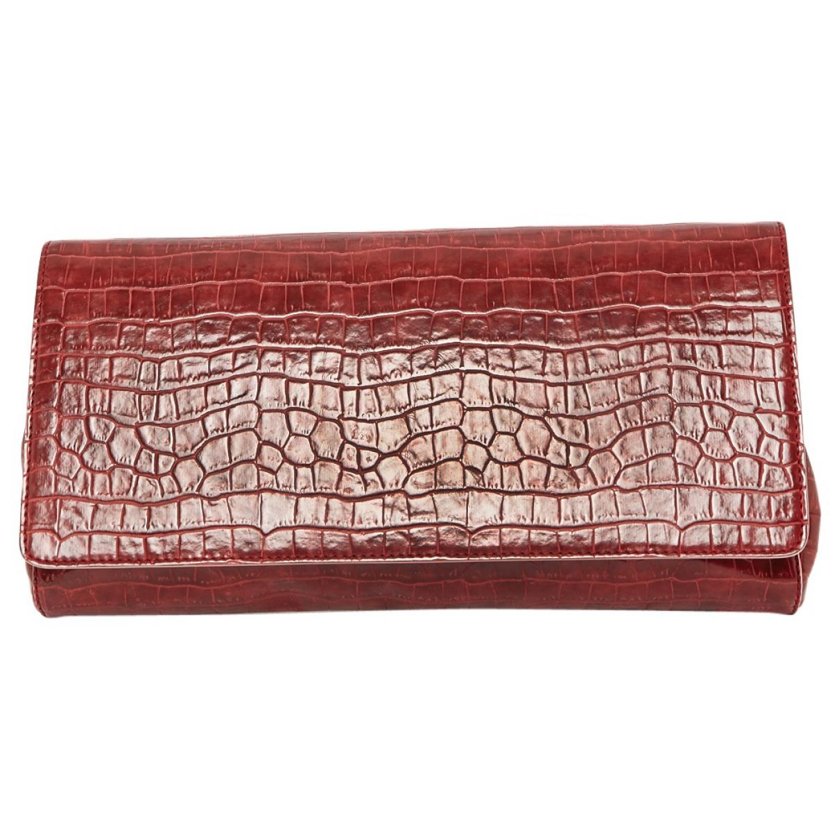 54185fbfe0f1 Stella McCartney. Women s Red Burgundy Leather Clutch Bag.  395 From Vestiaire  Collective ...