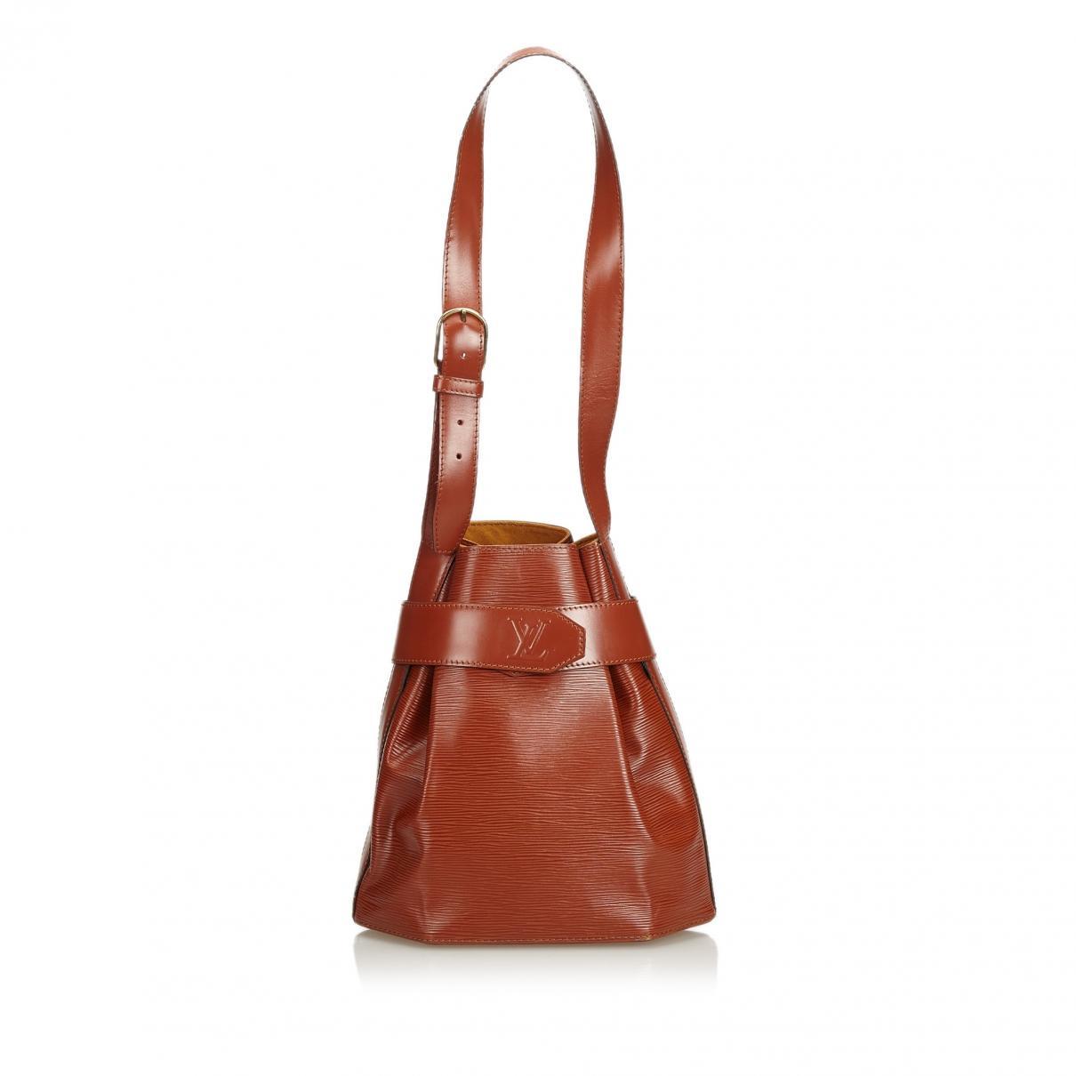dca526507b7627 Lyst - Louis Vuitton Vintage Brown Leather Handbag in Brown