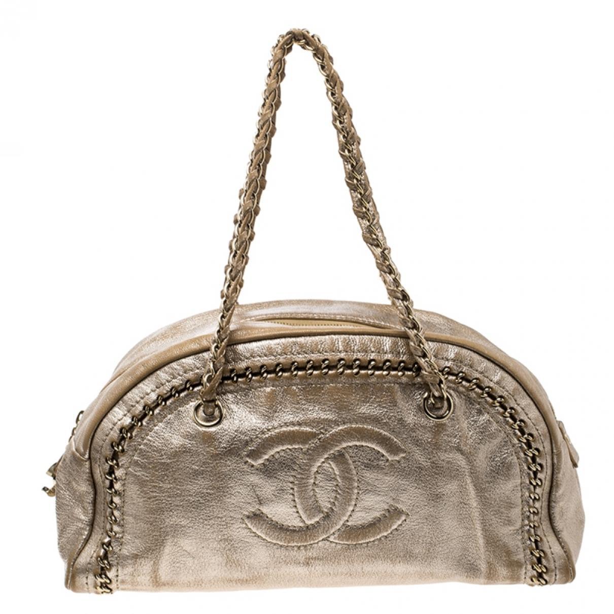 48c6eec2580c Lyst - Chanel Mademoiselle Metallic Leather Handbag in Metallic