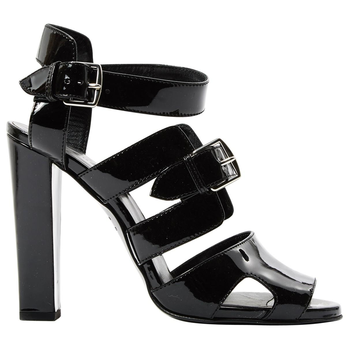 new concept 90606 49866 hermes-Black-Pre-owned-Patent-Leather-Sandals.jpeg