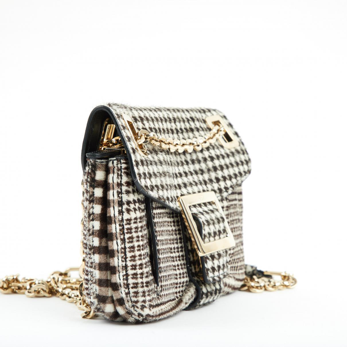 3d016bd78f4a Roger Vivier - Black Pony-style Calfskin Handbag - Lyst. View fullscreen
