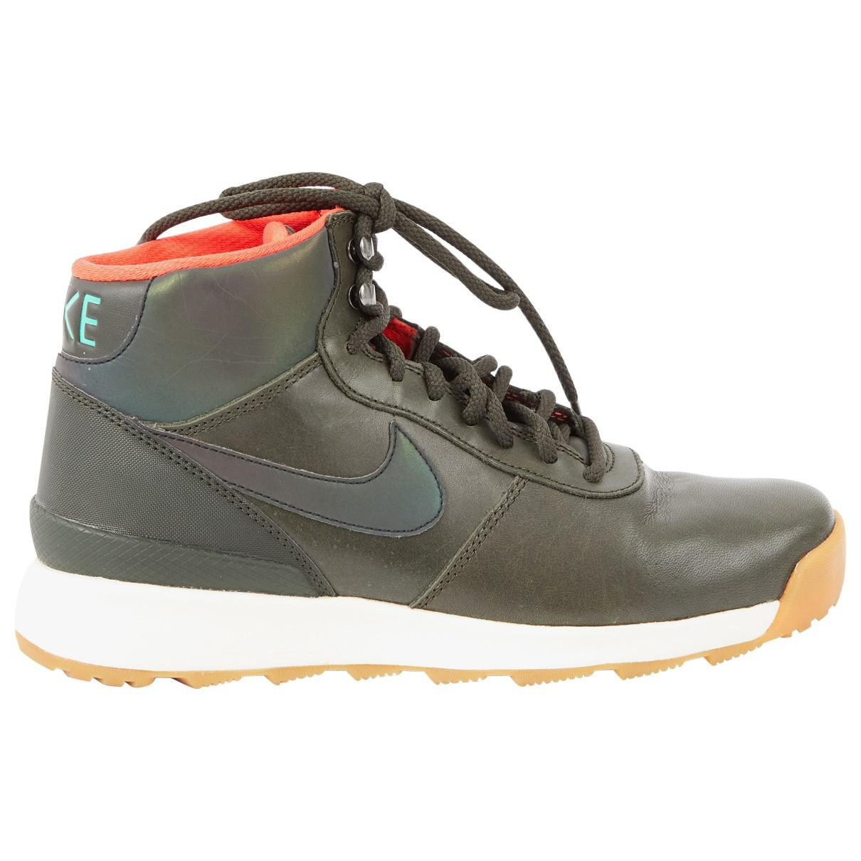Pre-owned - Leather trainers Nike LFbjV