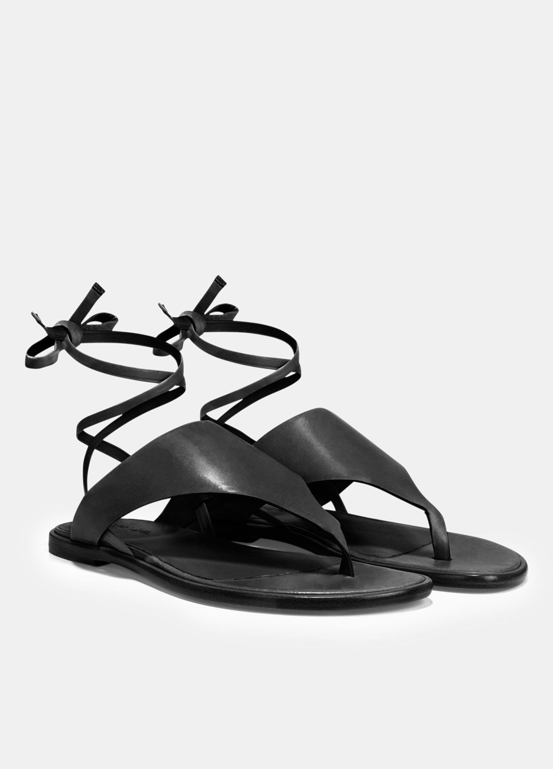 0af75416167 Vince - Black Eastwood Leather Sandals - Lyst. View fullscreen