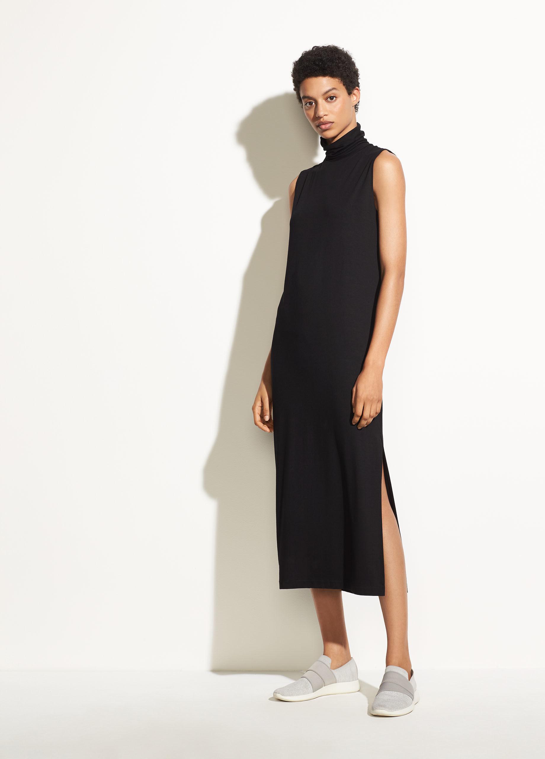 e9f1a40003b2fa Vince Sleeveless Turtleneck Dress (black) Women s Dress in Black - Lyst