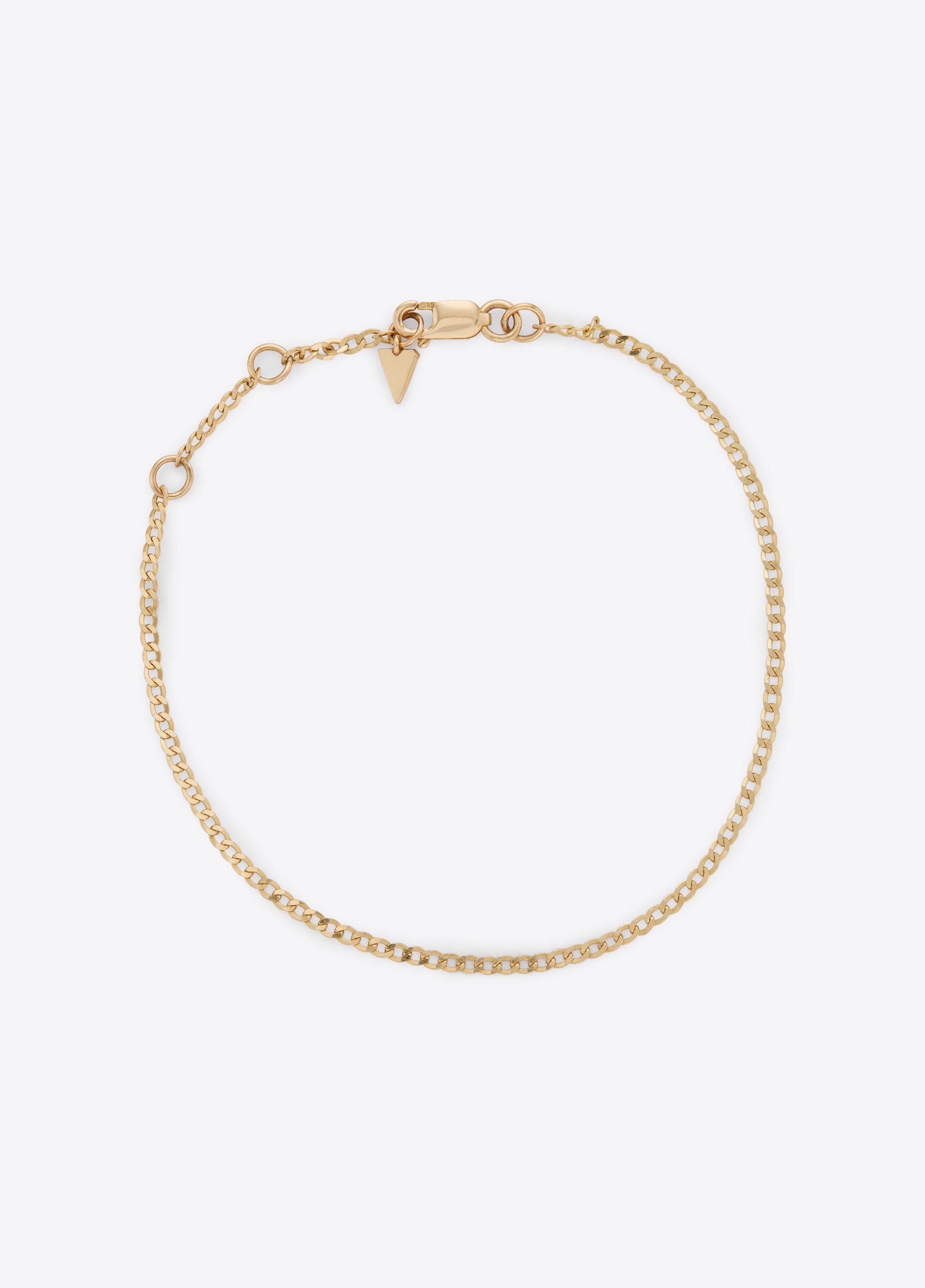 Vince Loren Stewart / Classic Curb 14-Karat Gold Chain Bracelet Gold rH3whv1zcf