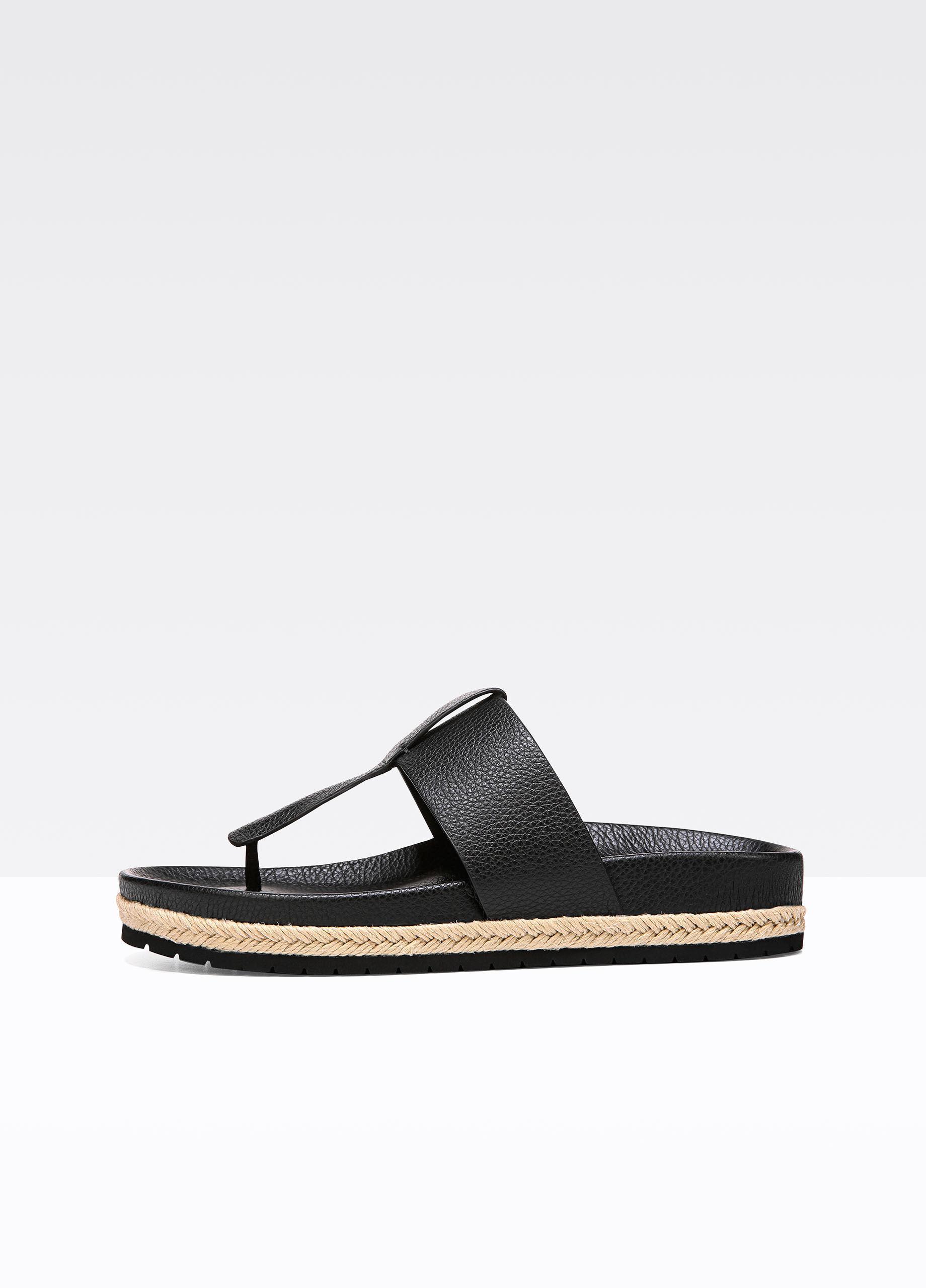 Vince Women's Avani Leather Thong Platform Sandals TdLFwi