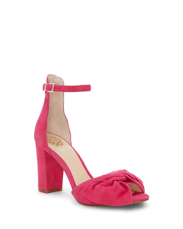 7b3a04031f03 Lyst - Vince Camuto Women s Carrelen Heeled Sandal in Pink
