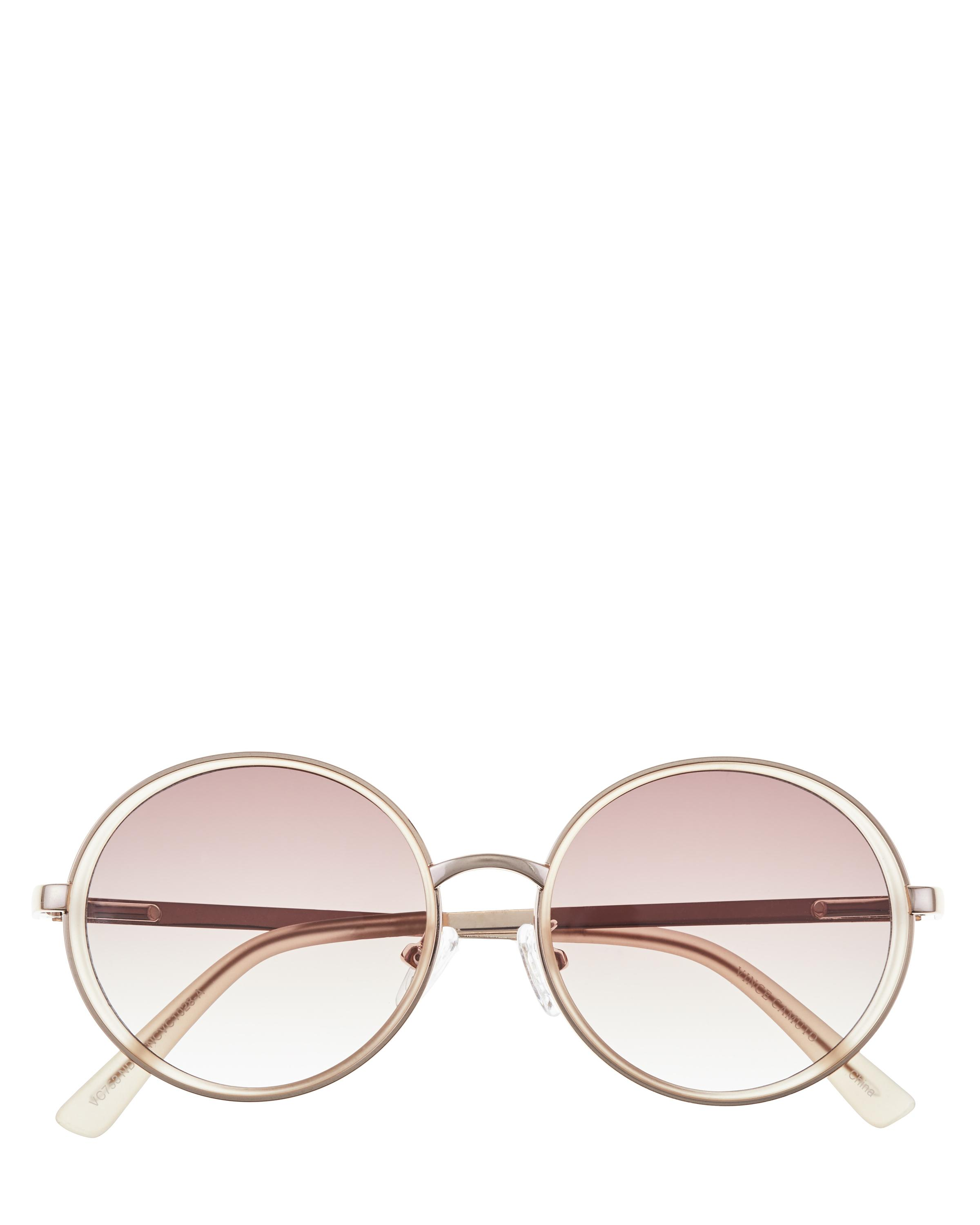 c06ca9932 Vince Camuto Frosted-detail Round Sunglasses - Lyst