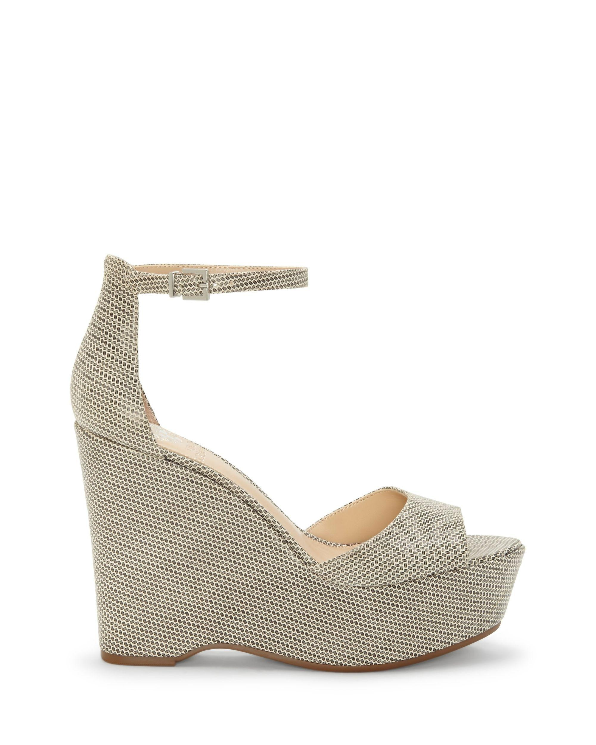 e41f0a038d01 Lyst - Vince Camuto Tatchen – Platform Wedge Sandal in White - Save 36%