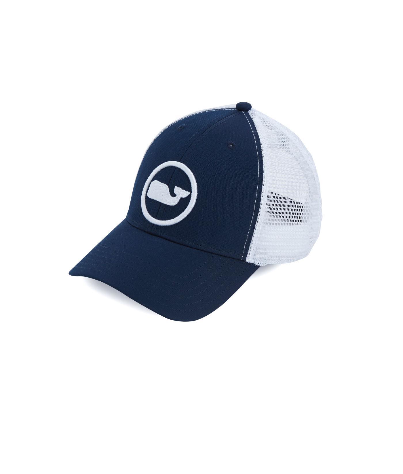 Lyst - Vineyard Vines Whale Dot Performance Trucker Hat in Blue for Men fd3e00edeabb