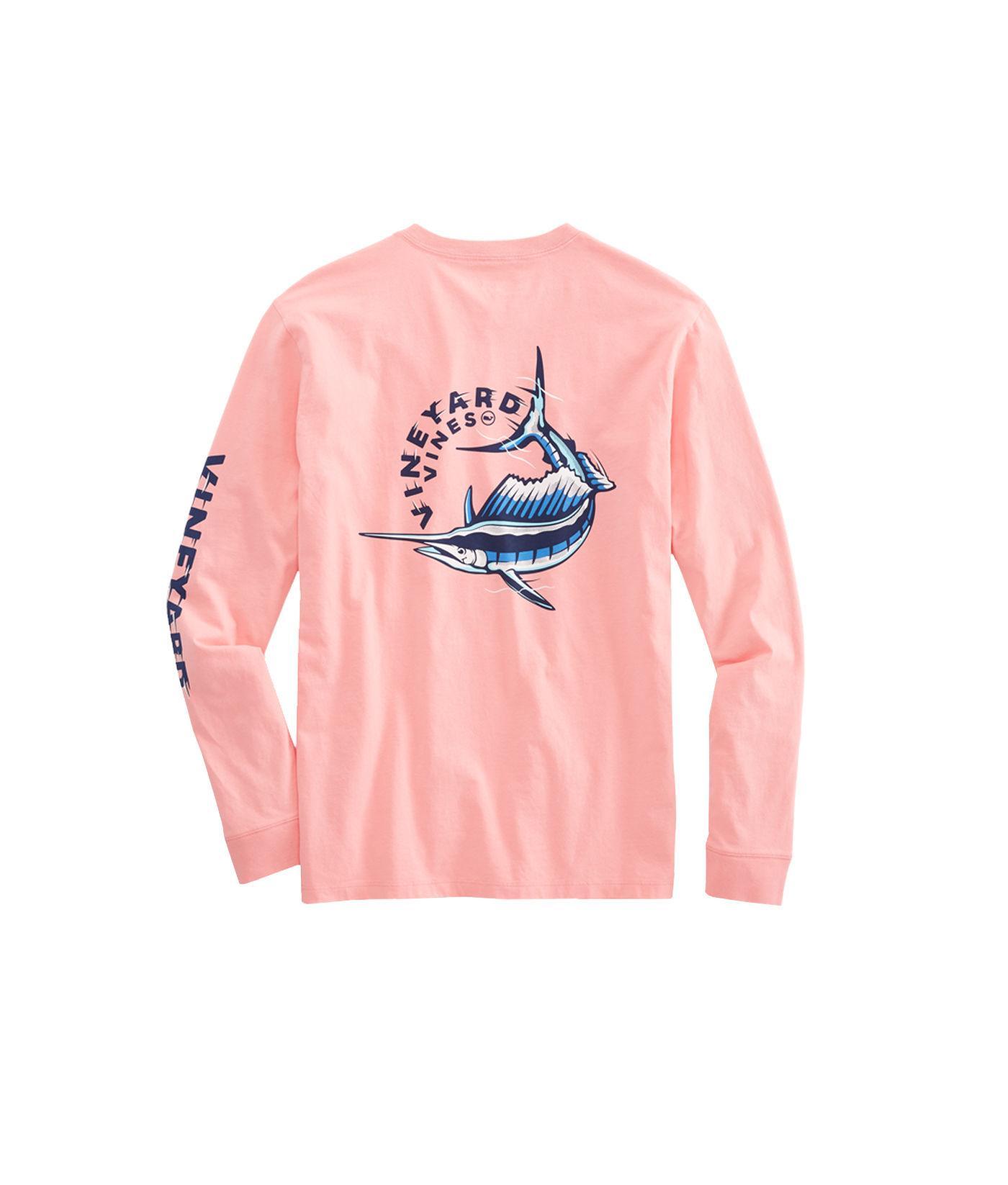 Lyst - Vineyard Vines Long-sleeve Sailfish Vortex Pocket T-shirt in ... 3299519af