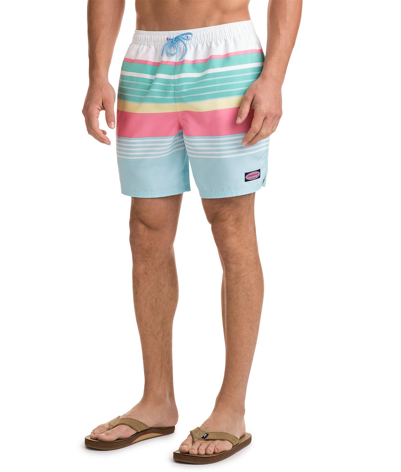 94c45db9c8358 Lyst - Vineyard Vines Boca Bay Stripe Chappy Trunks in Blue for Men