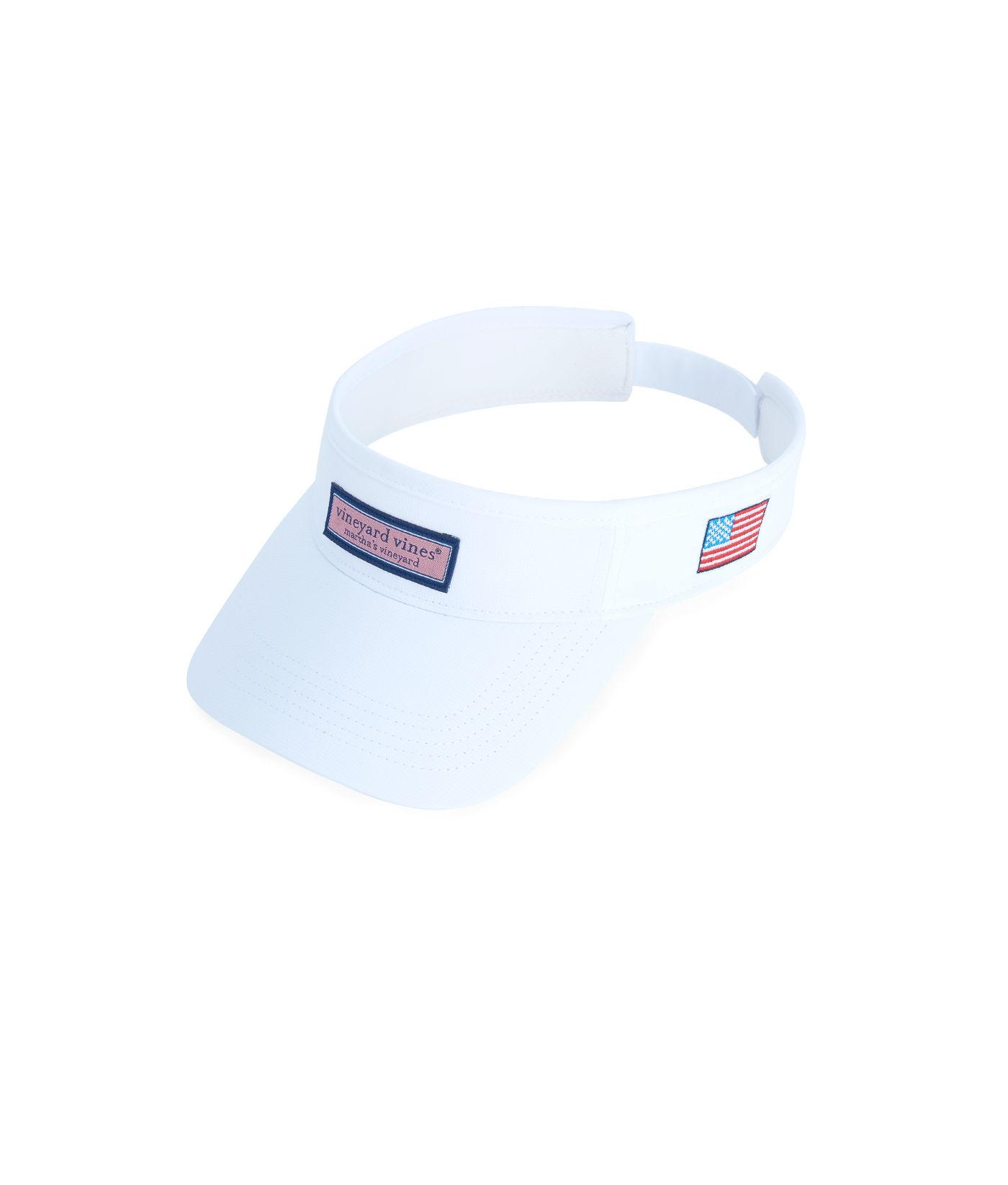 f6983ffa Lyst - Vineyard Vines Low Profile Logo Box Visor in White for Men