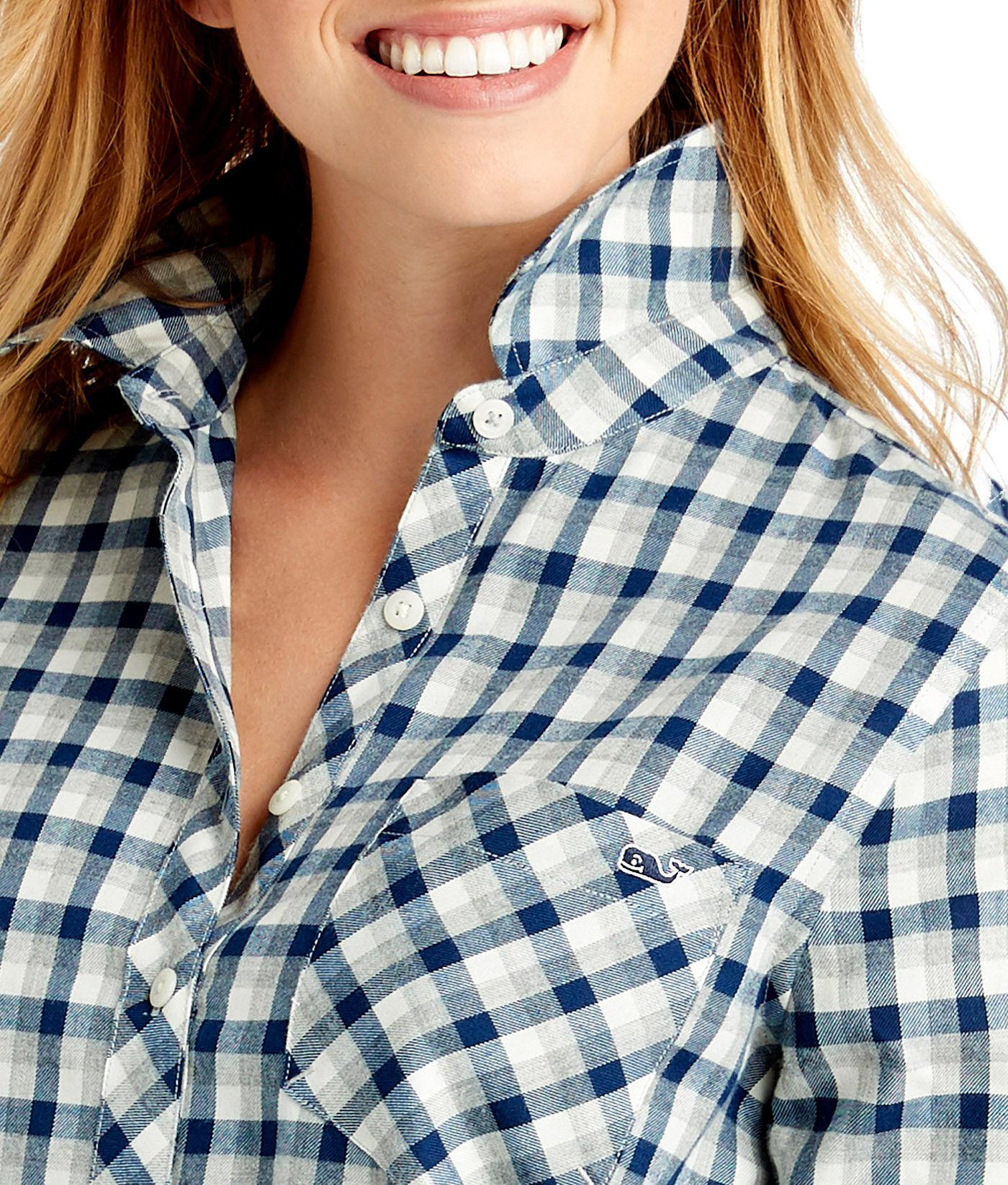 fabd11af Vineyard Vines - Blue Tri-color Flannel Chilmark Relaxed Button Down -  Lyst. View fullscreen