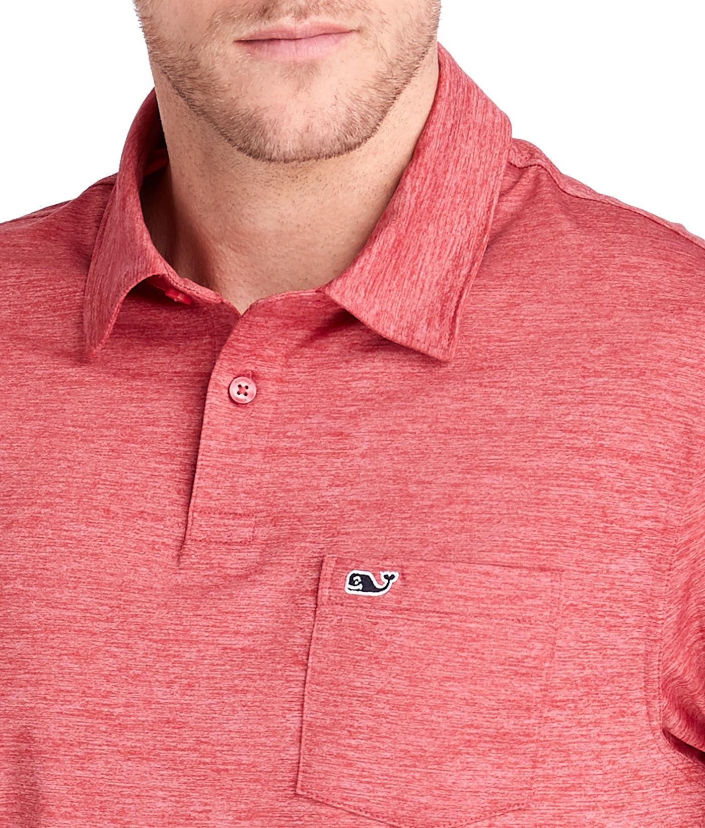 c077d9db6a Vineyard Vines - Red St. Kitts Solid Bowline Fit Polo for Men - Lyst. View  fullscreen