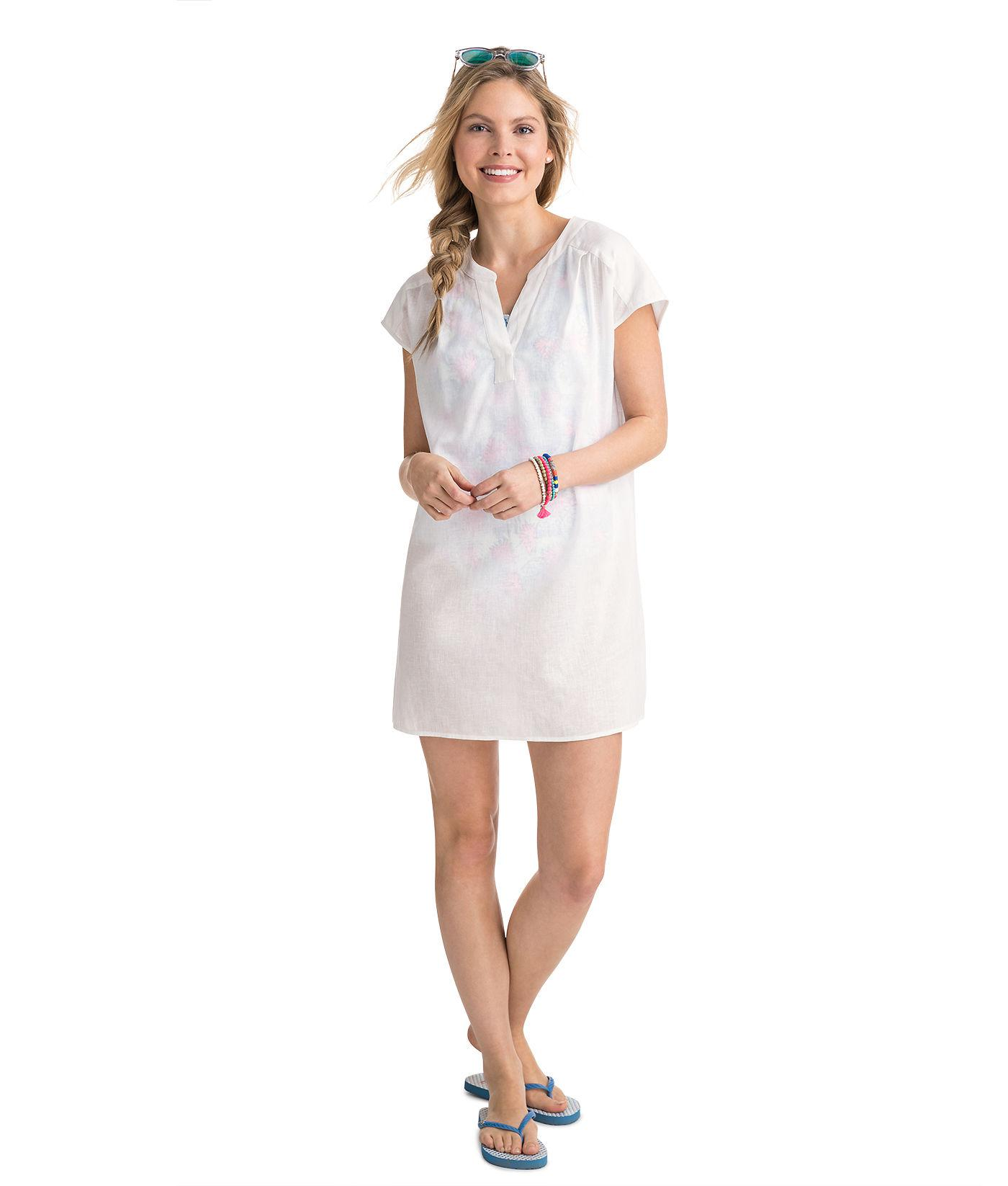 5b80e2ac1f Vineyard Vines Dolman Sleeve Cover Up Dress in White - Lyst