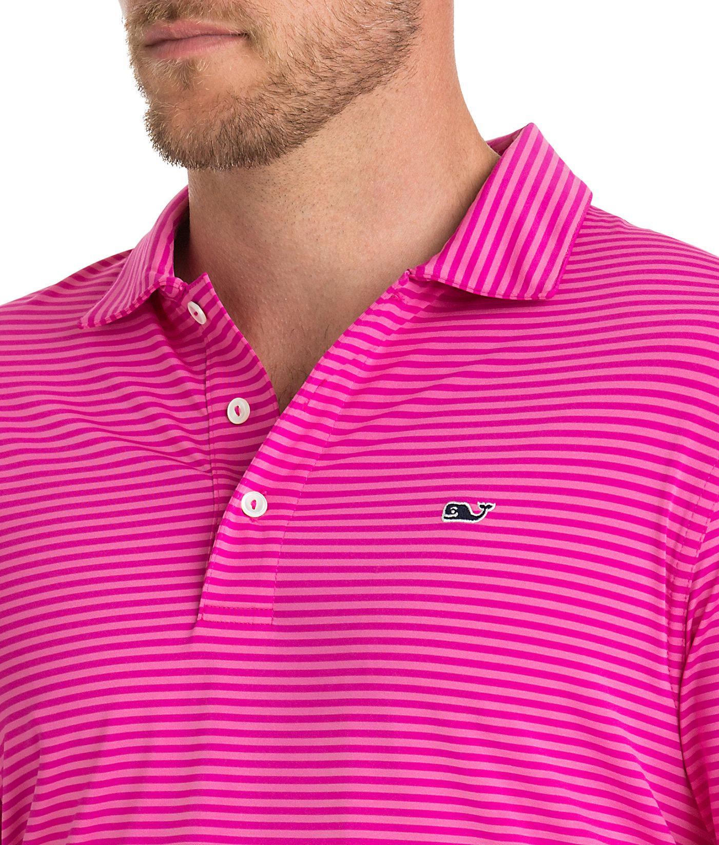 413399ff Vineyard Vines Kennedy Stripe Sankaty Performance Polo for Men - Lyst