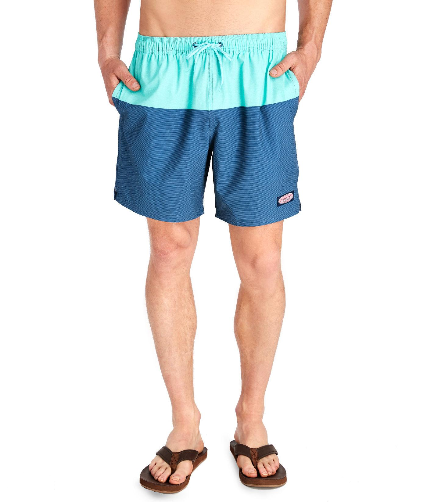 5942a2d2bd Vineyard Vines Pieced Mini Starfish Chappy Trunks in Blue for Men - Lyst