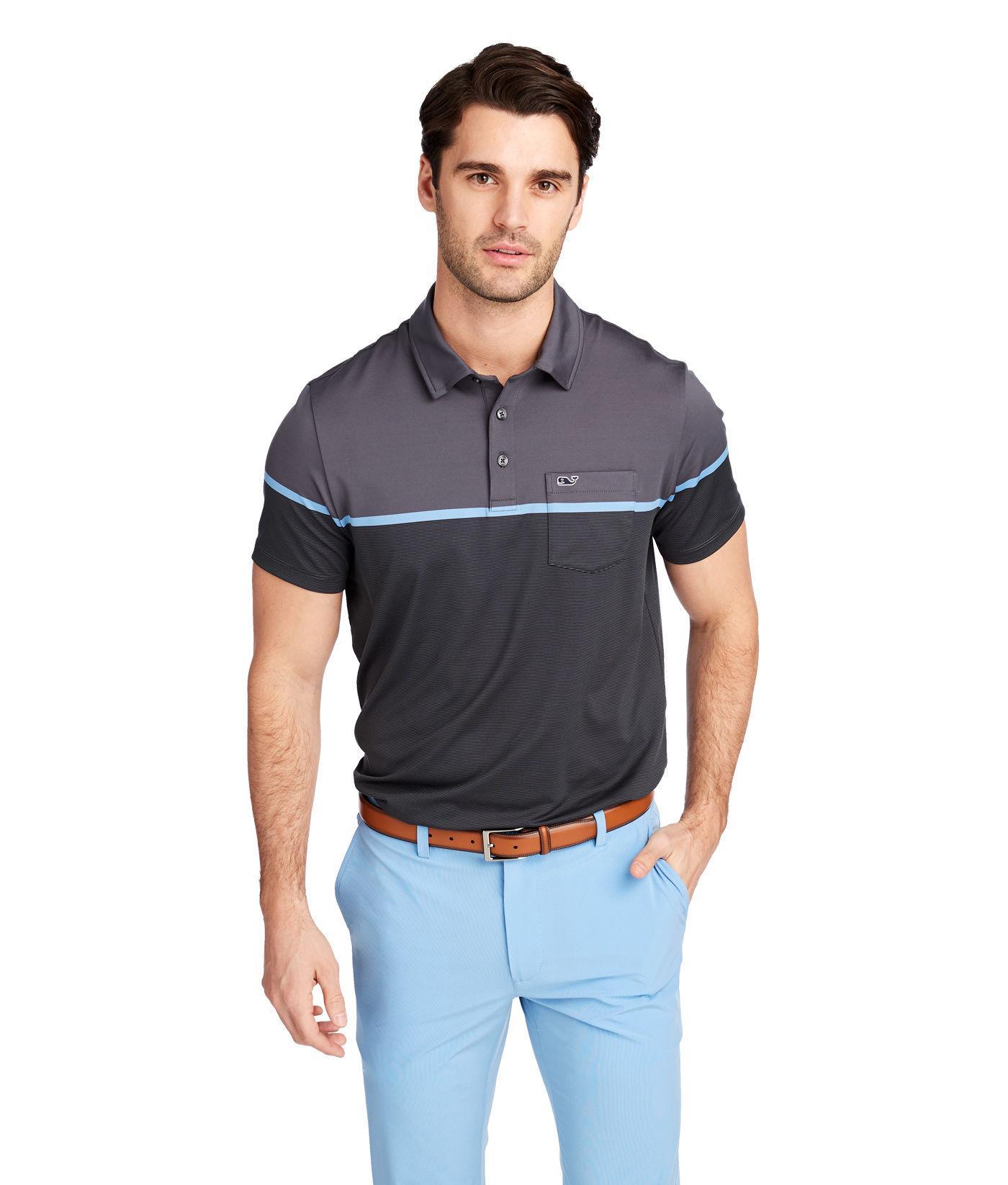 86ba9c6cbe Lyst - Vineyard Vines Caneel Bay Striped Bowline Fit Polo for Men
