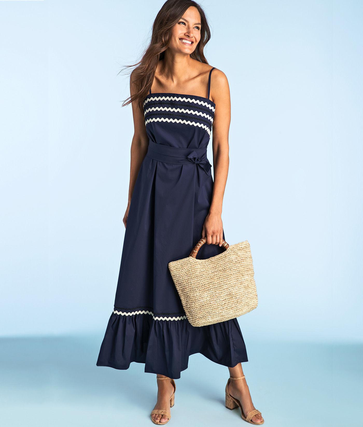 076b279de8 Vineyard Vines Ric Rac Maxi Dress in Blue - Lyst