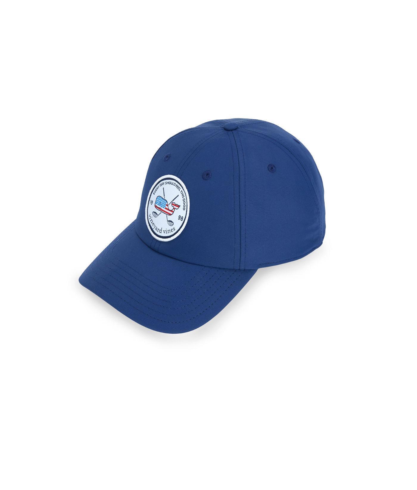 Vineyard Vines - Blue Golf Patch Performance Baseball Hat for Men - Lyst. View  fullscreen 60fb779b2cc9