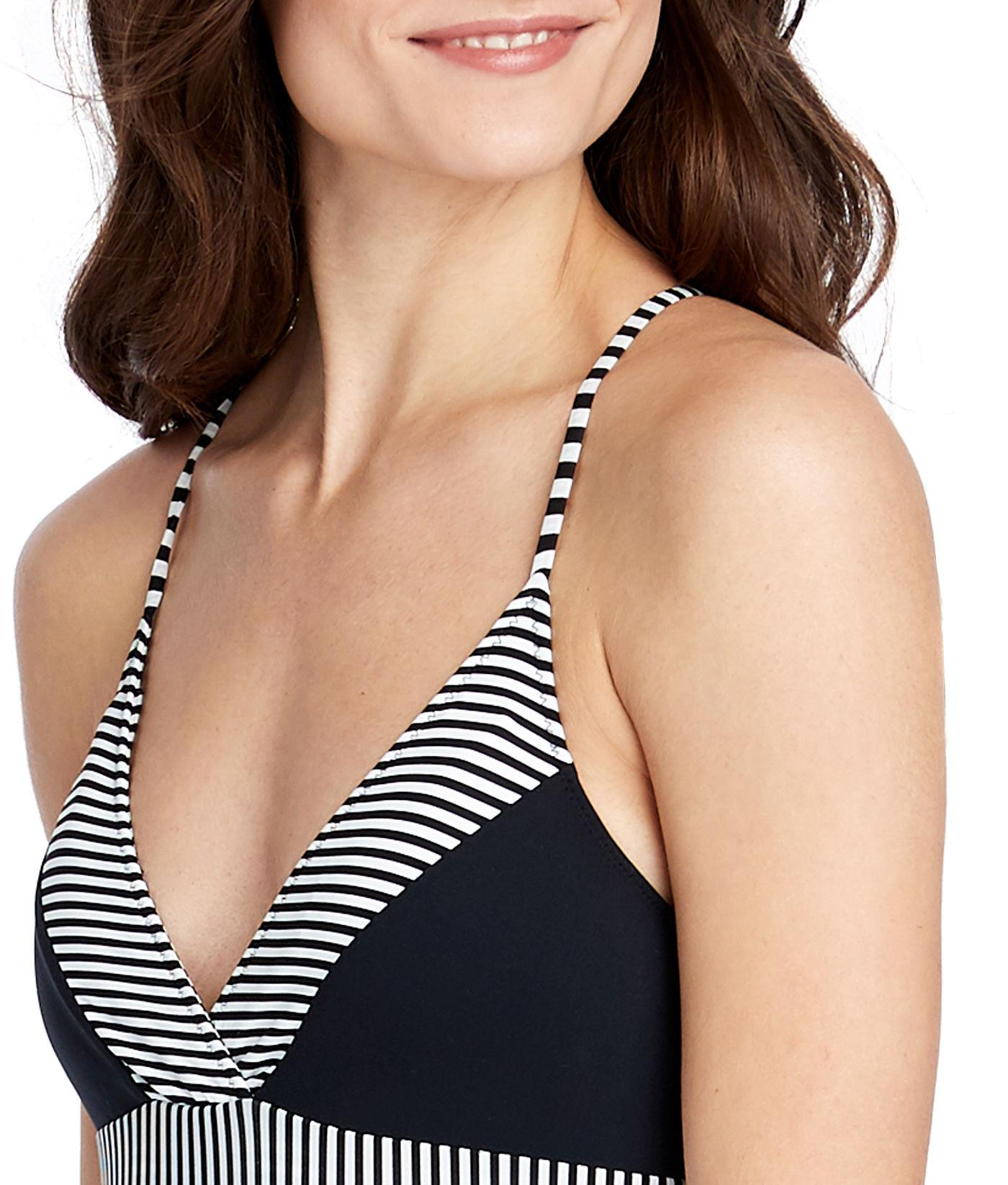 c84ea2100f Vineyard Vines - Black Sarah Stripe Sconset One-piece Swimsuit - Lyst. View  fullscreen