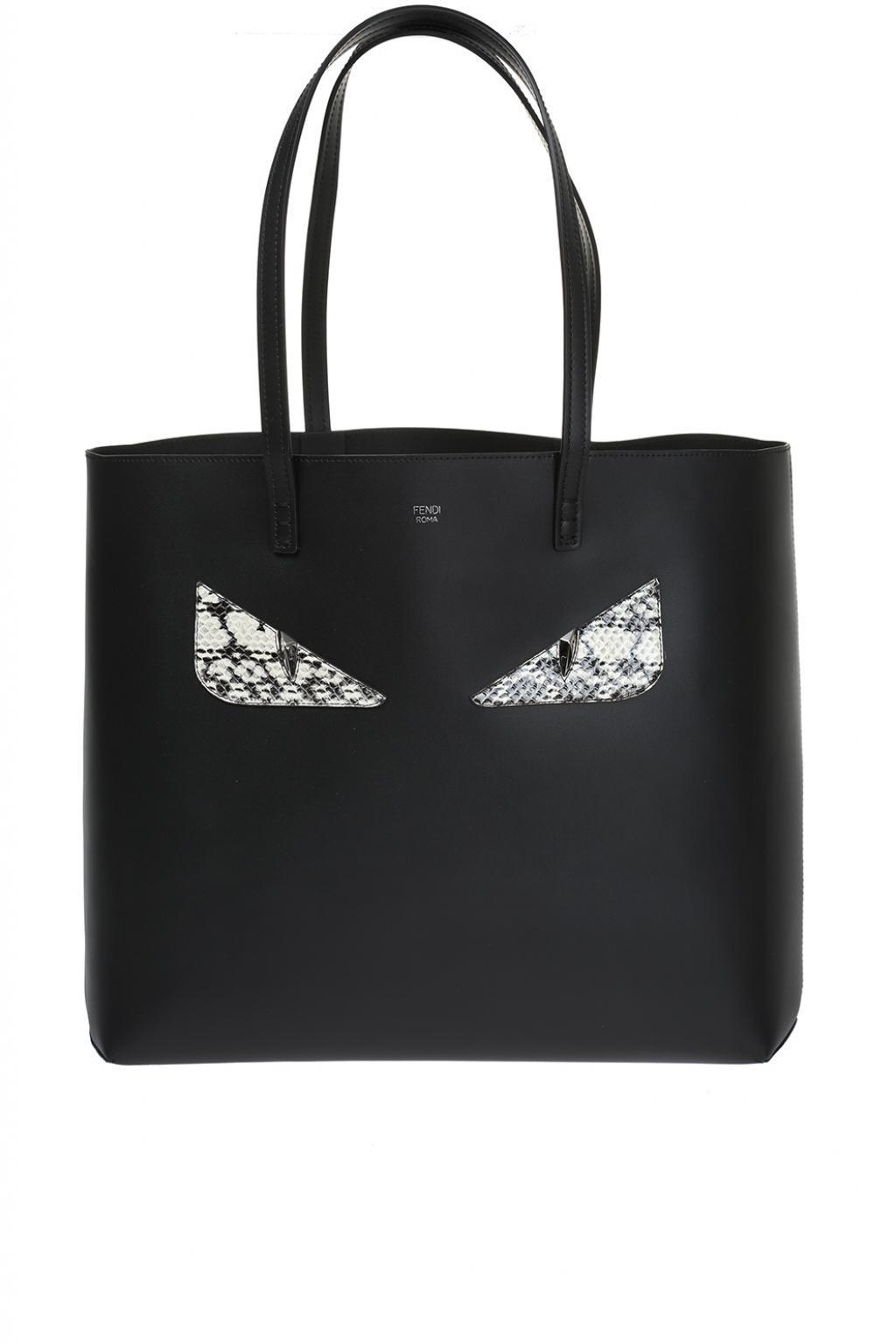 Fendi  roll  Shopper Bag in Black - Lyst 1f4d1ba1dfed6