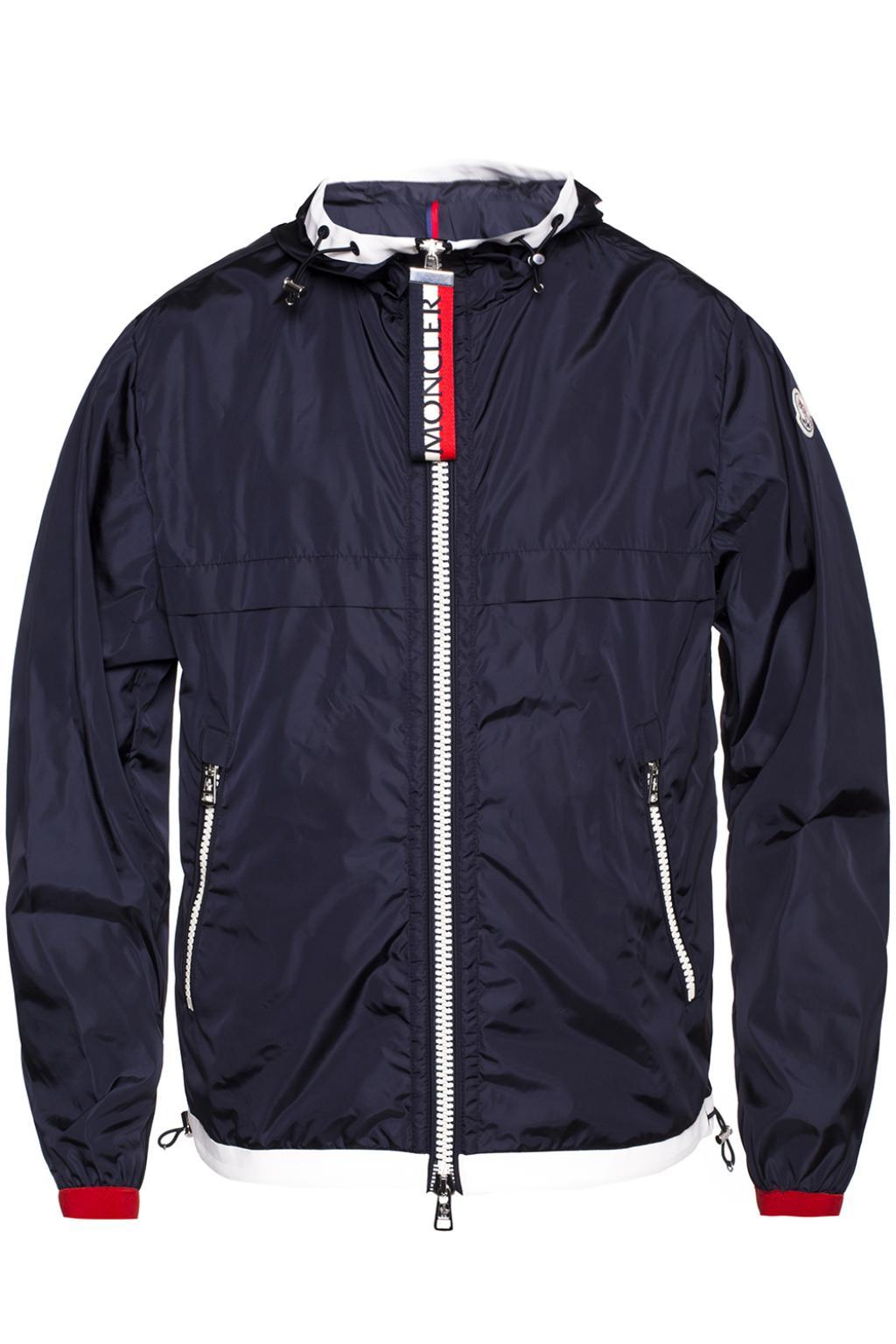 ae0e148dd Moncler  alshat  Hooded Jacket in Blue for Men - Lyst