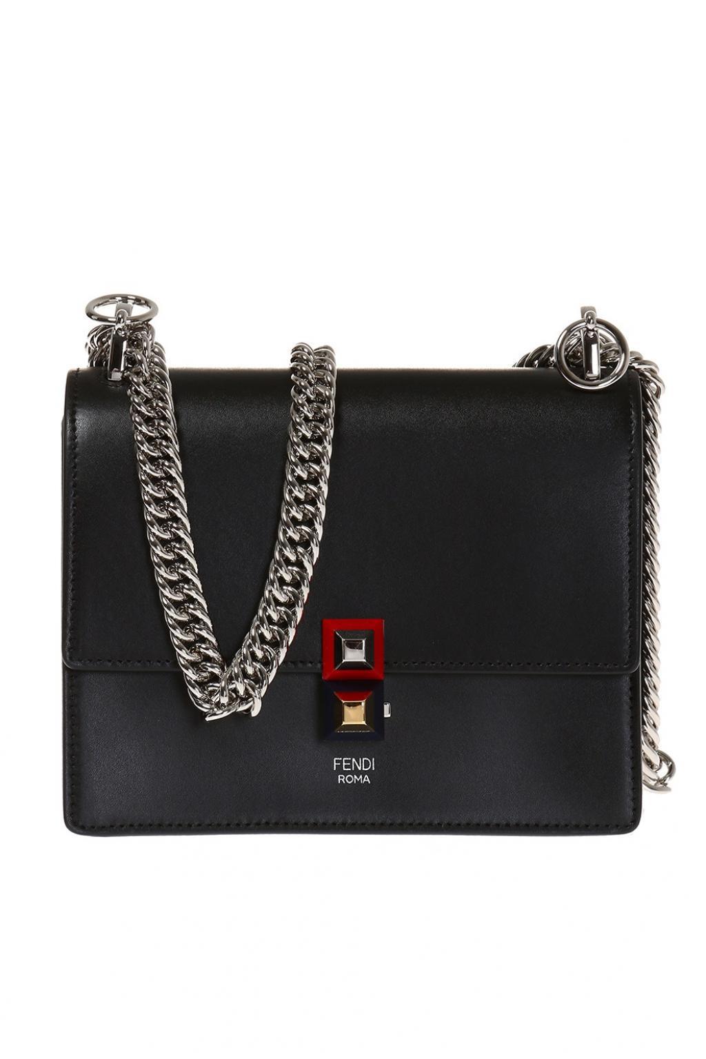 7b963b709a67 Lyst - Fendi 'kan I' Shoulder Bag in Black - Save 1%