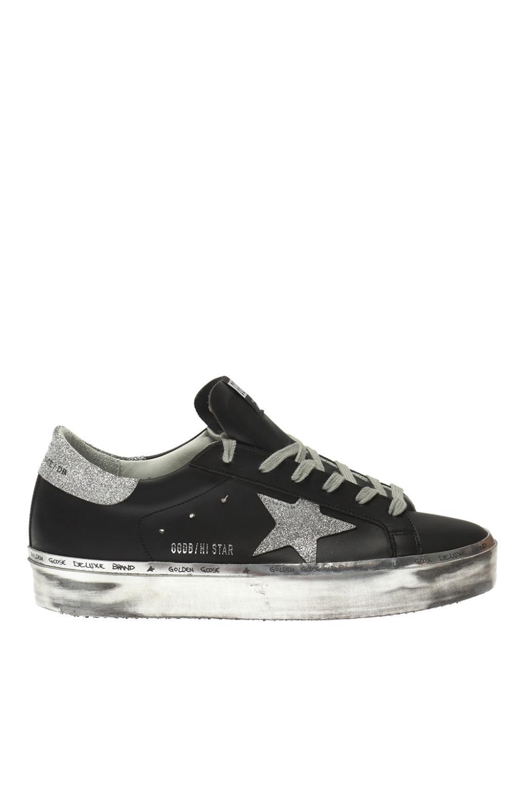 cc3aaf35478 Lyst - Golden Goose Deluxe Brand  hi-star  Platform Sneakers in Black