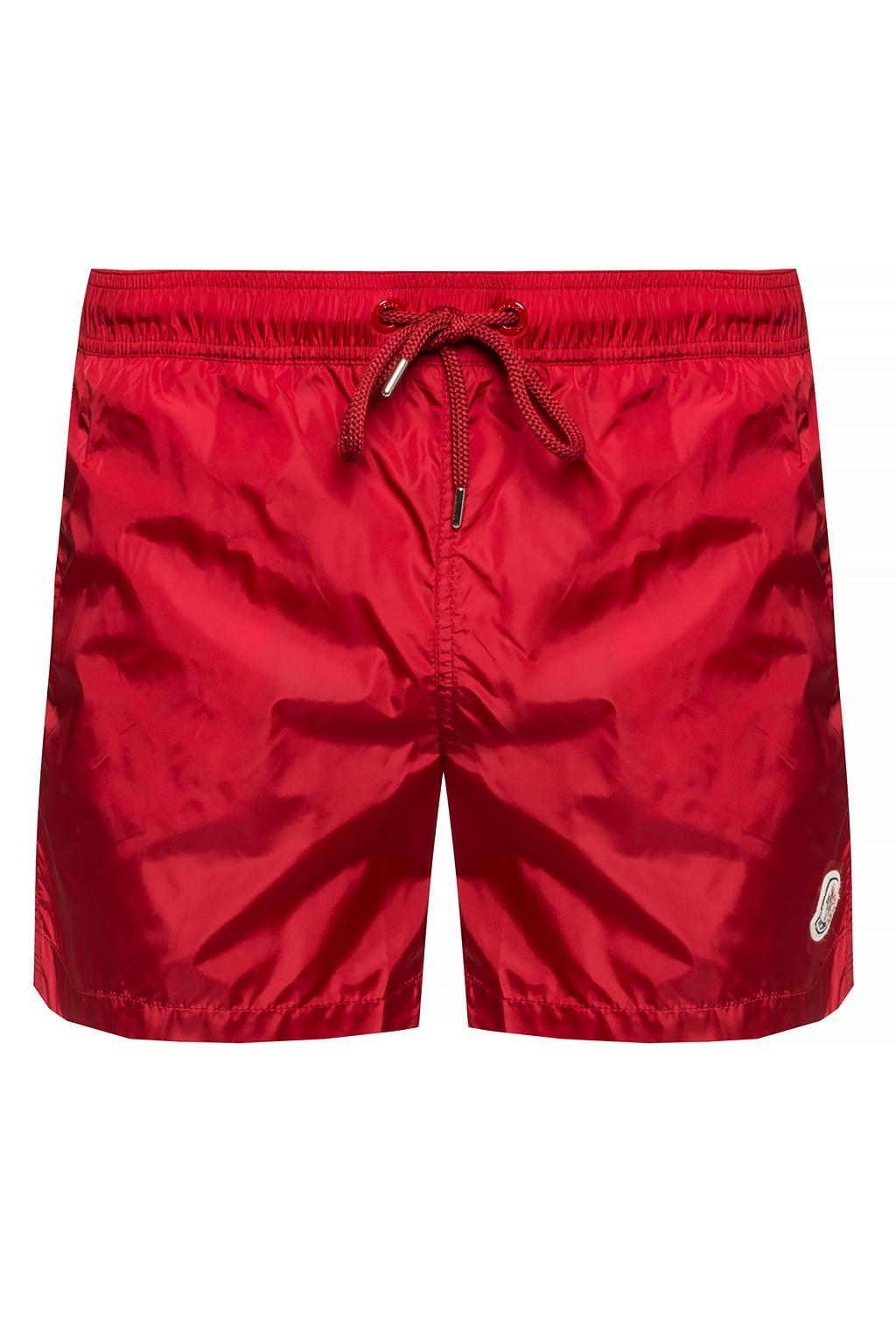 d4941a4fe3 Moncler Logo-patched Swim Shorts in Red for Men - Lyst