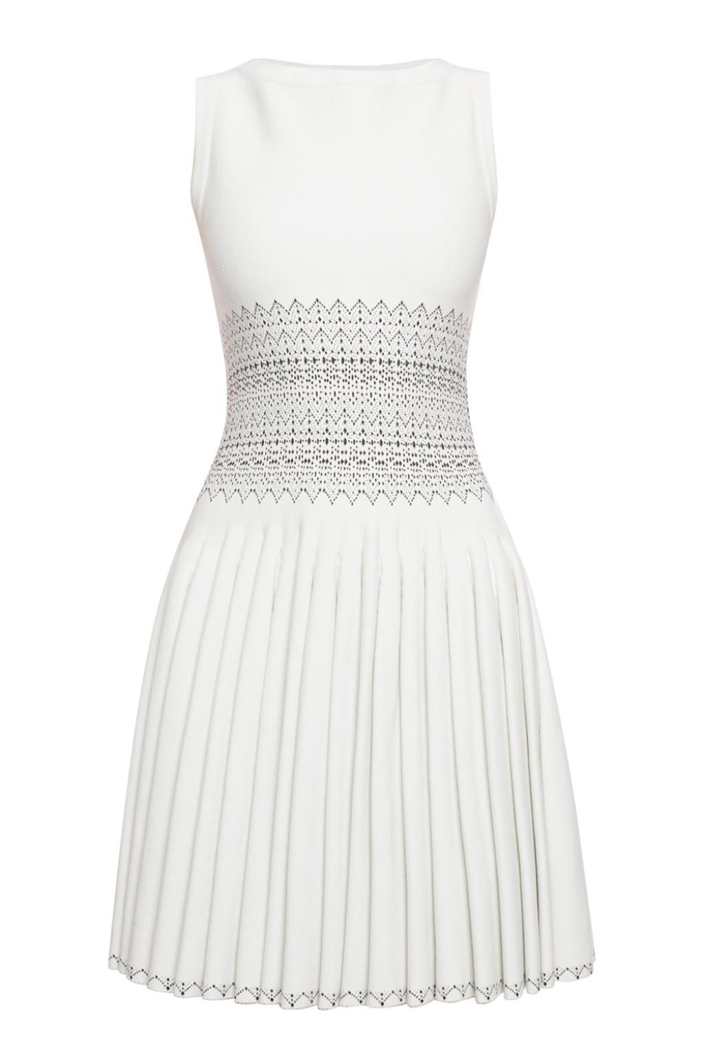 bf80fe6103b Lyst - Alaïa Embroidered Dress in White