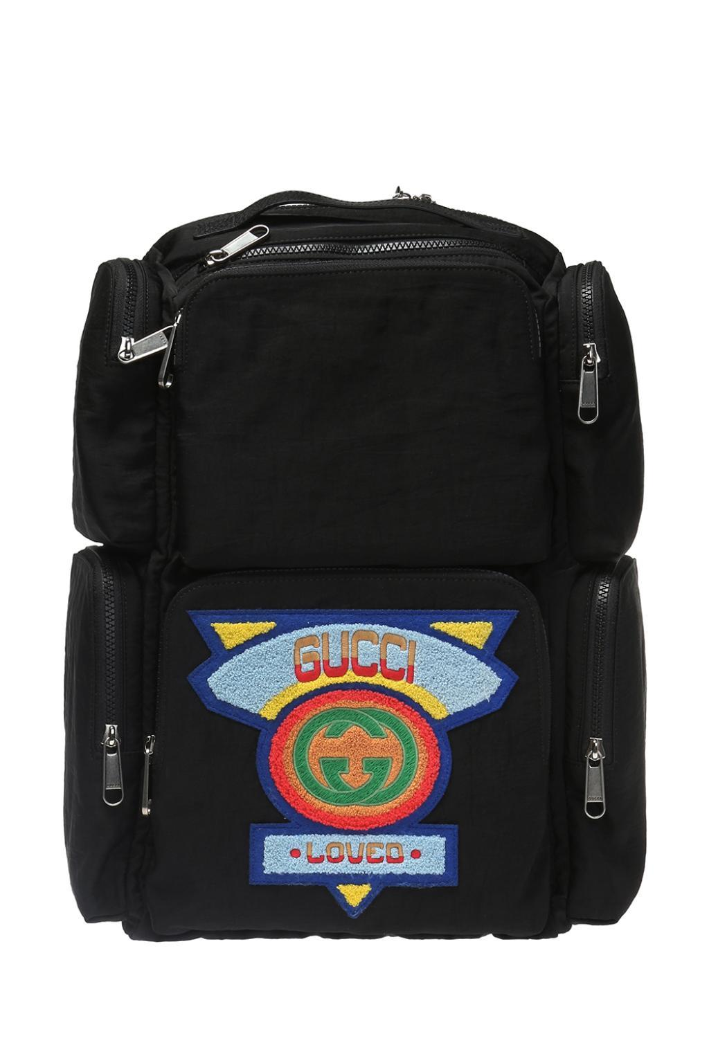 db8b195945a Lyst - Gucci Logo-patched Backpack in Black for Men - Save 12%