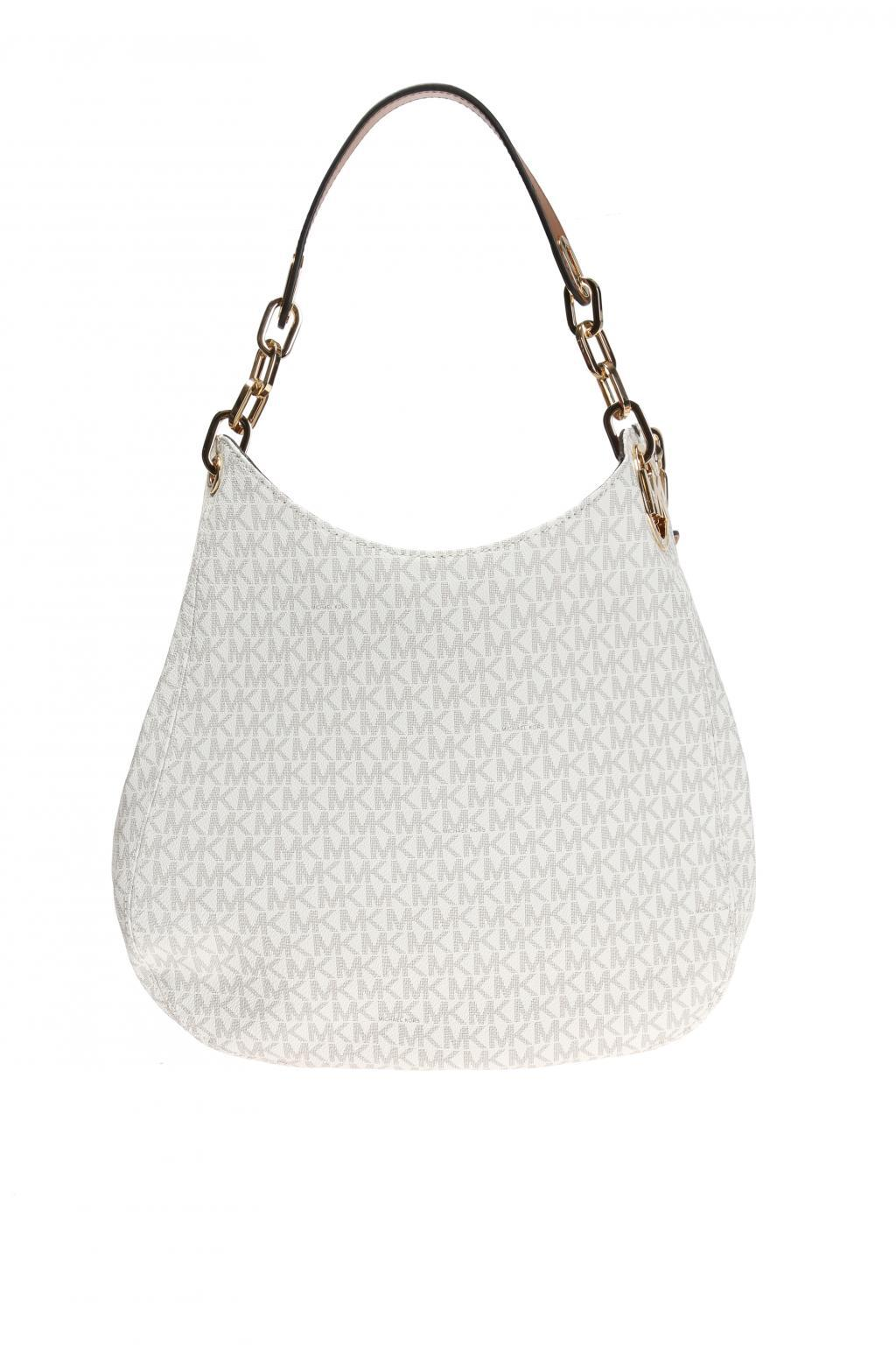 ad808dbed4083c ... where to buy michael kors. womens white fulton shoulder bag e8a0f 7eee3