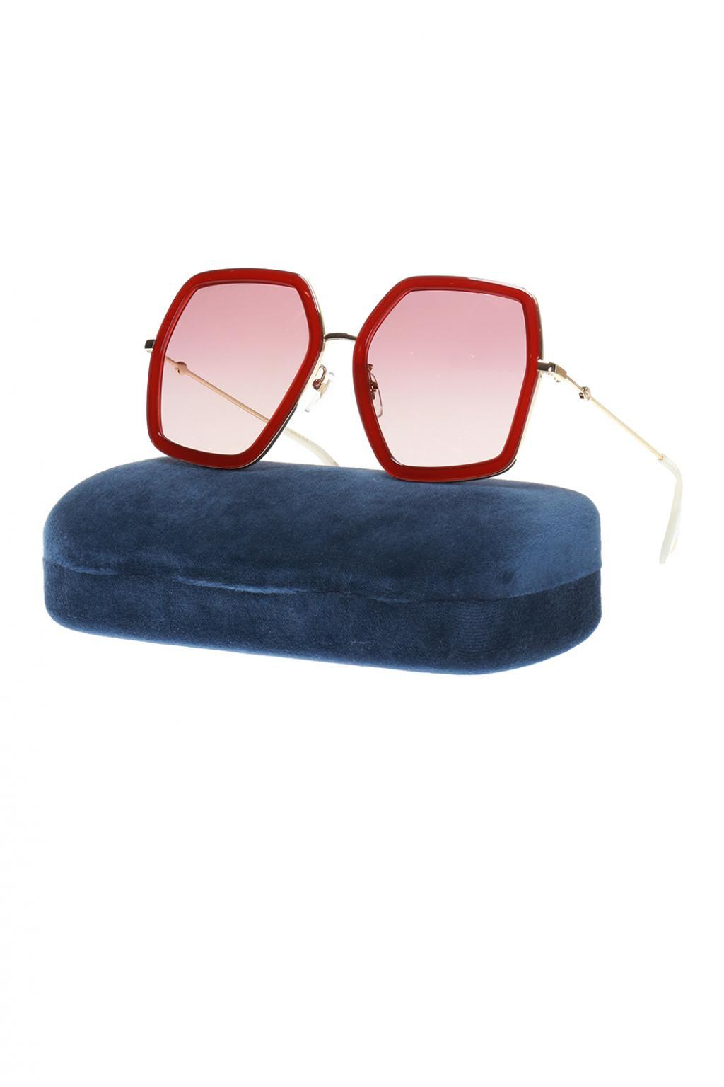 7c50dfd7542 Lyst - Gucci Bee Motif Sunglasses in Red