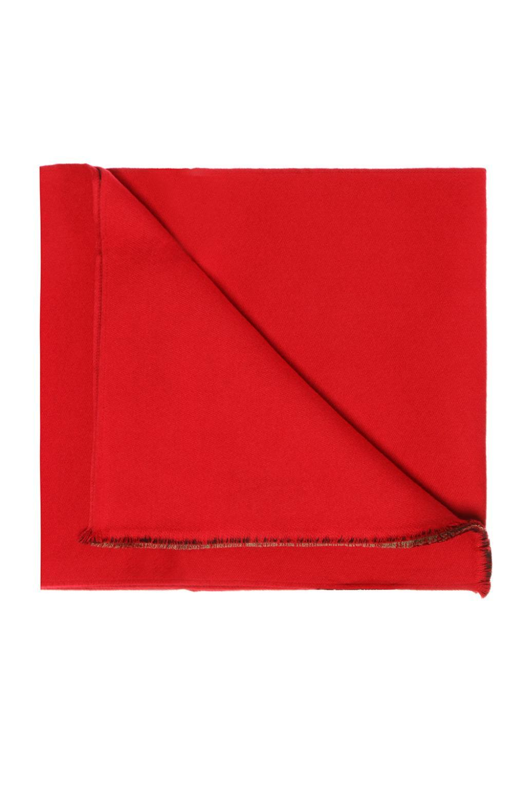 365e78326d1 Lyst - Gucci Reversible Scarf in Red