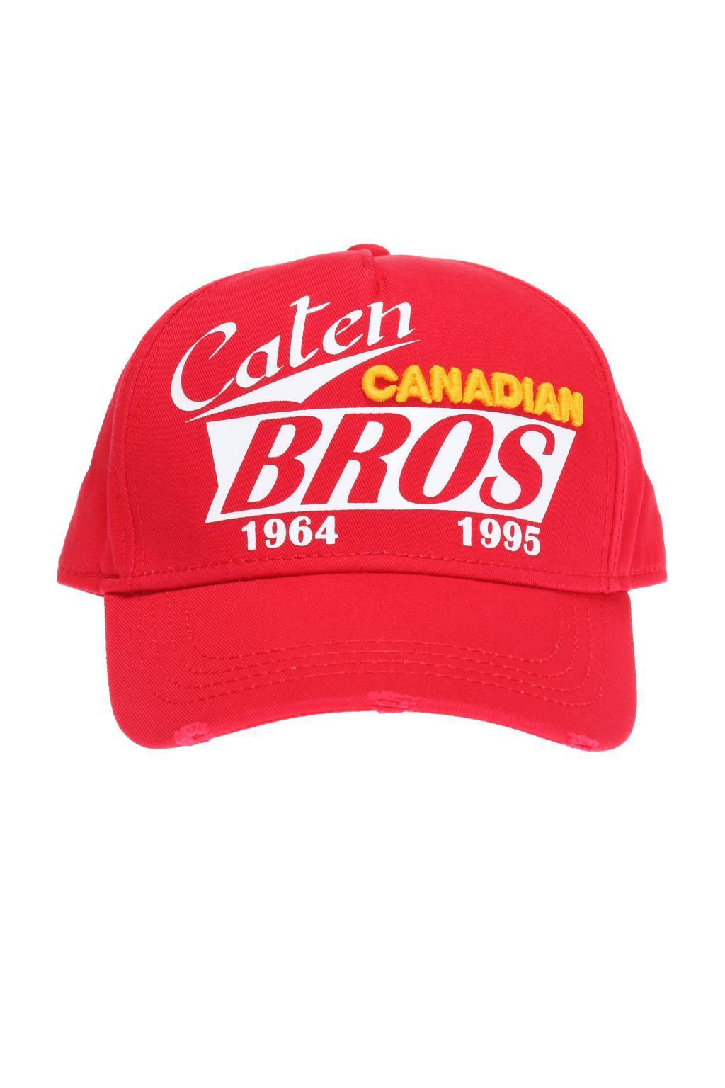 d4e6f7b2458f60 DSquared² - Red Baseball Cap for Men - Lyst. View fullscreen