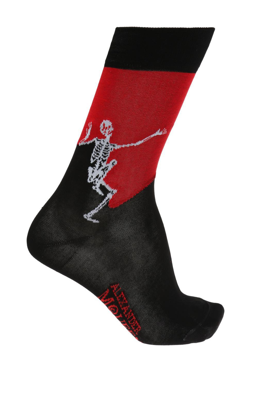 Free Shipping In China How Much Cheap Price logo embroidered socks - Black Alexander McQueen Cheap 100% Guaranteed Nicekicks For Sale dmxG8QAR