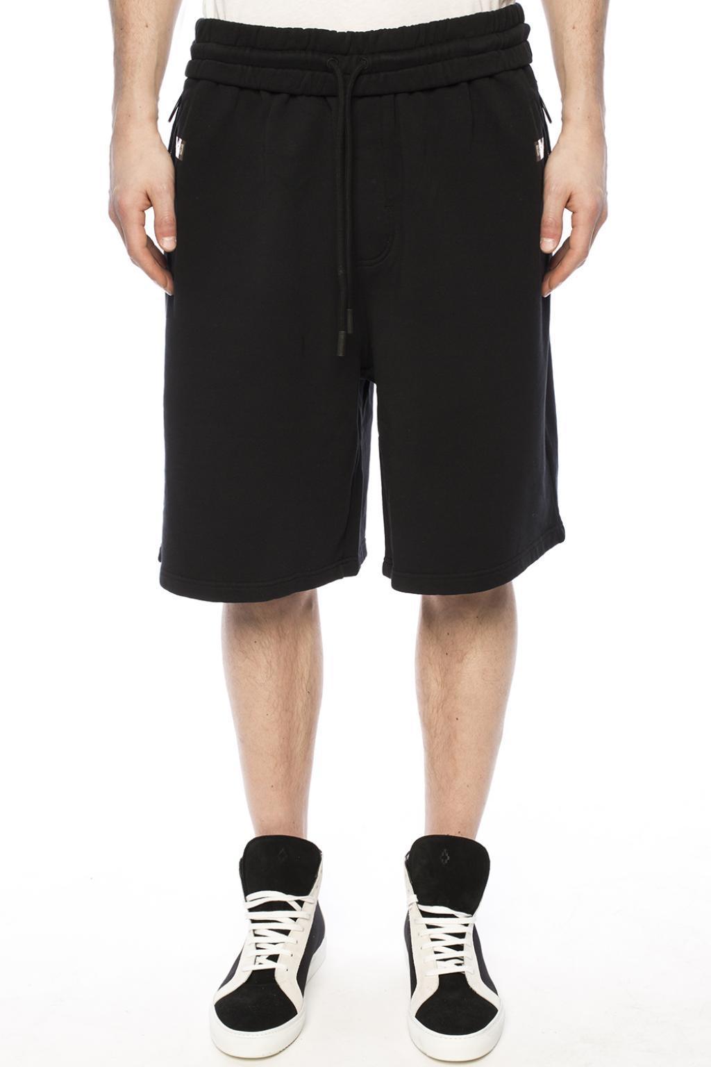 Lyst - Off-White c o Virgil Abloh Sweat Shorts in Black for Men ee9821274