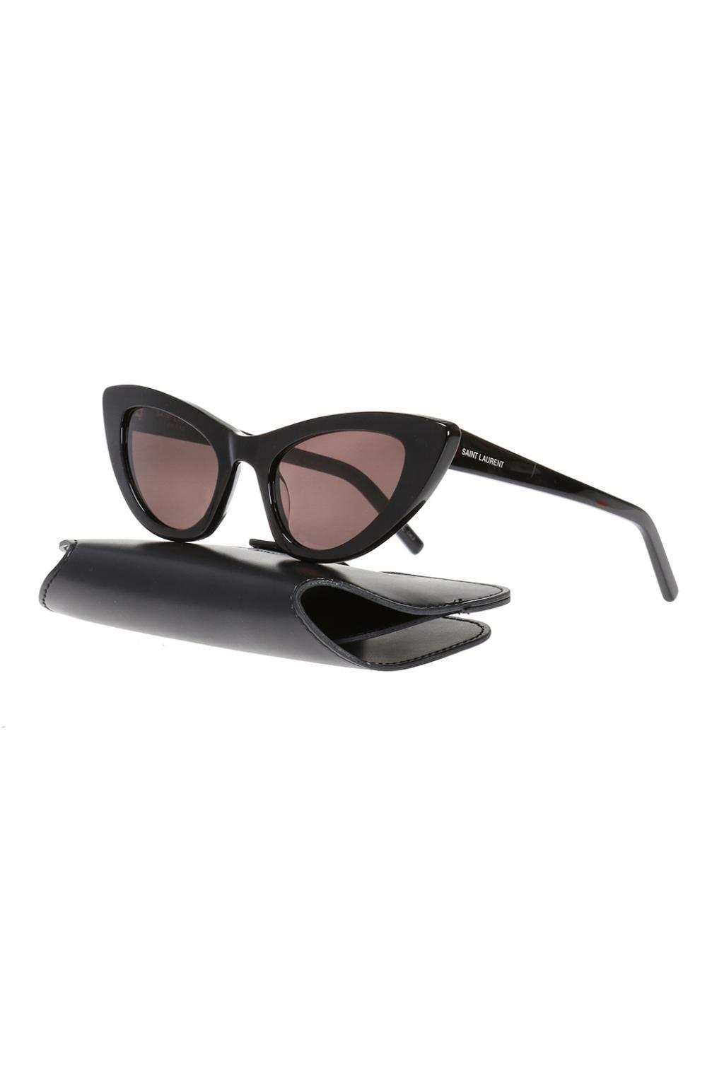 ce0e0c247c Saint Laurent - Black  new Wave 213 Lily  Sunglasses - Lyst. View fullscreen