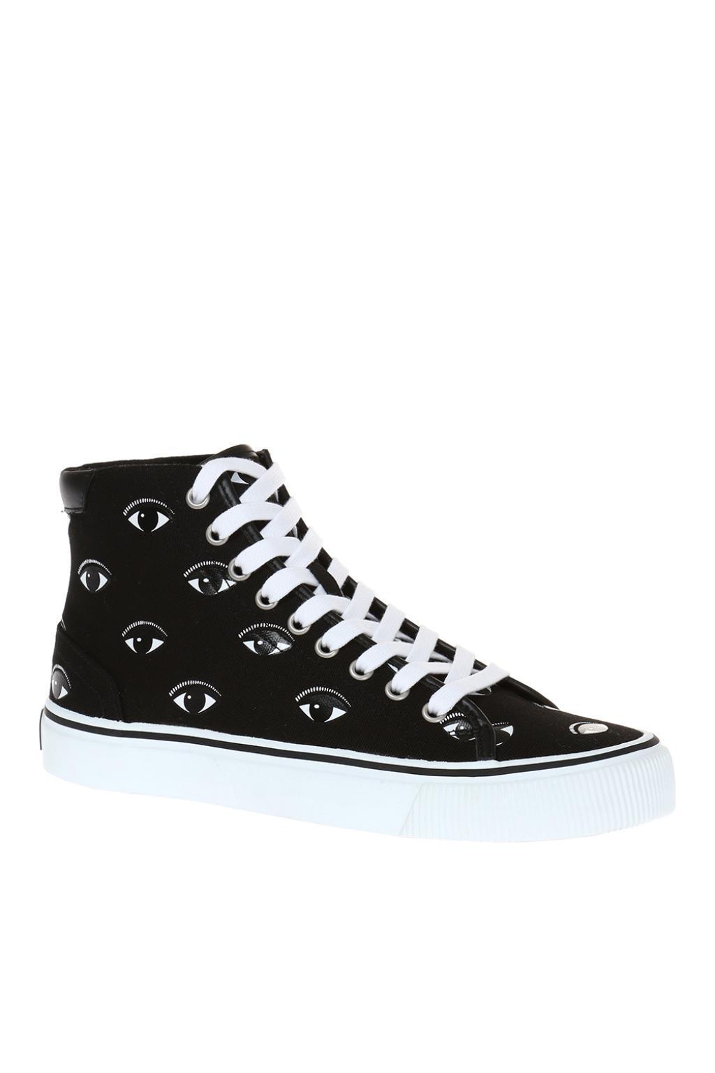 aebca0af KENZO - Black 'vulcano' Patterned High-top Sneakers for Men - Lyst. View  fullscreen