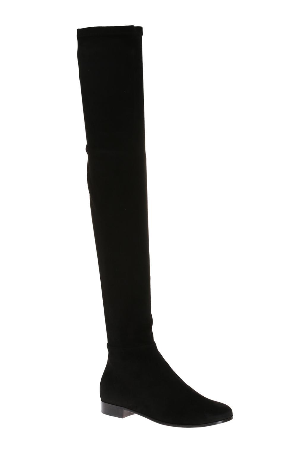 de63bd3c690 Jimmy Choo - Black  myren Flat  Suede Boots - Lyst. View fullscreen