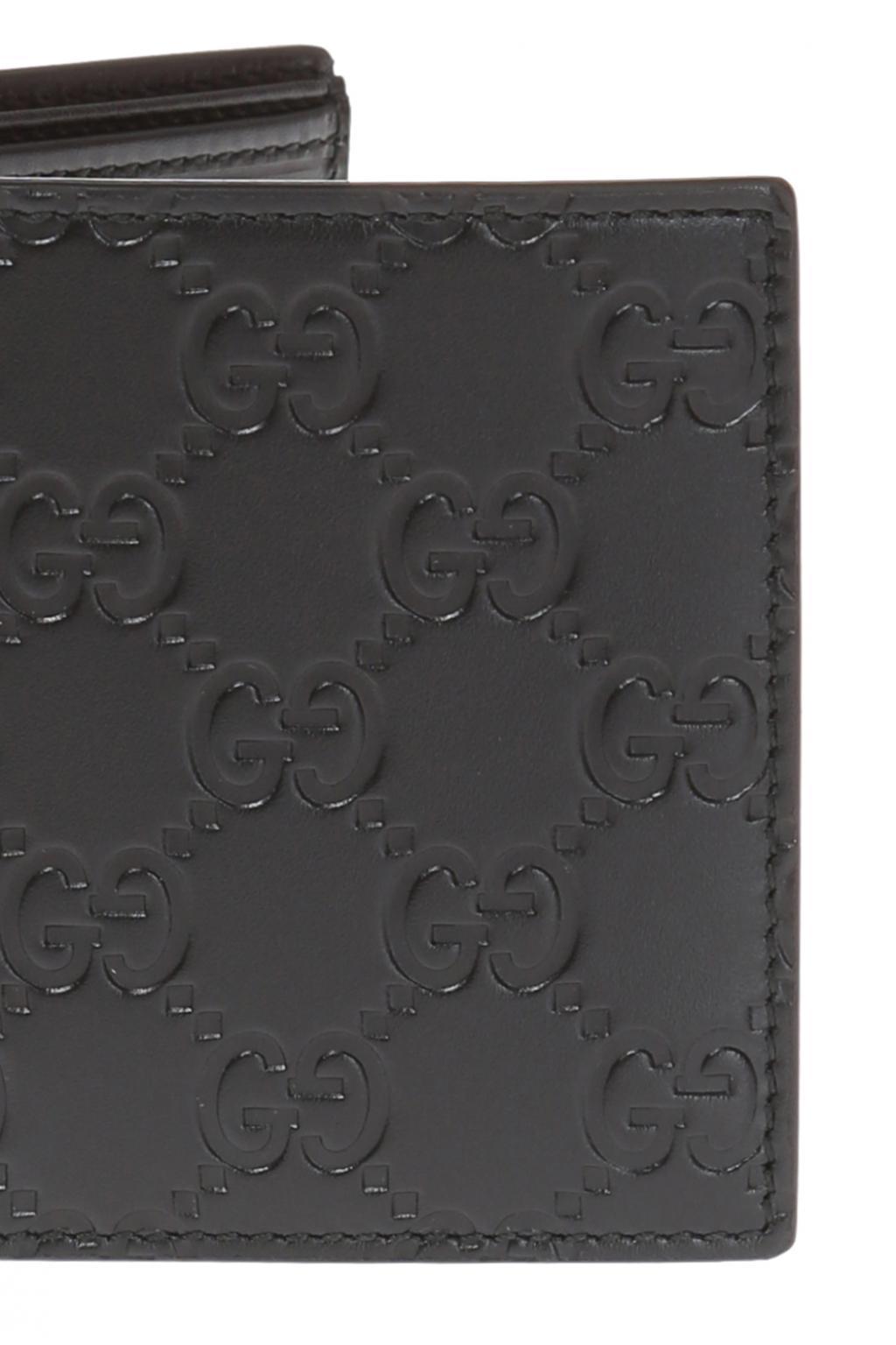 8c6ccd3c303b Gucci - Black Leather Bi-fold Wallet for Men - Lyst. View fullscreen