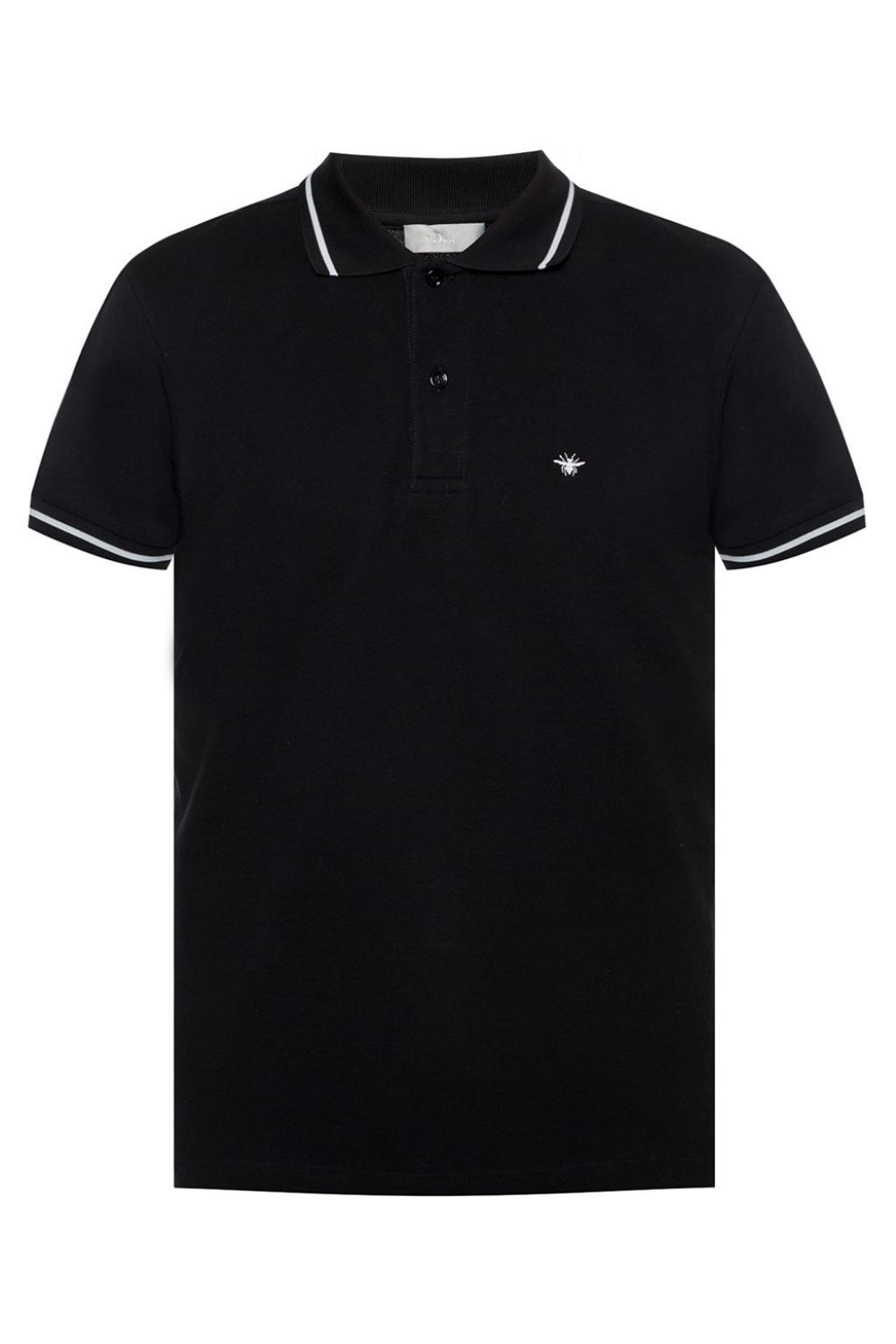 3a8a2b7f8c2 Lyst - Dior Bee Motif Polo Shirt in Black for Men - Save 39%