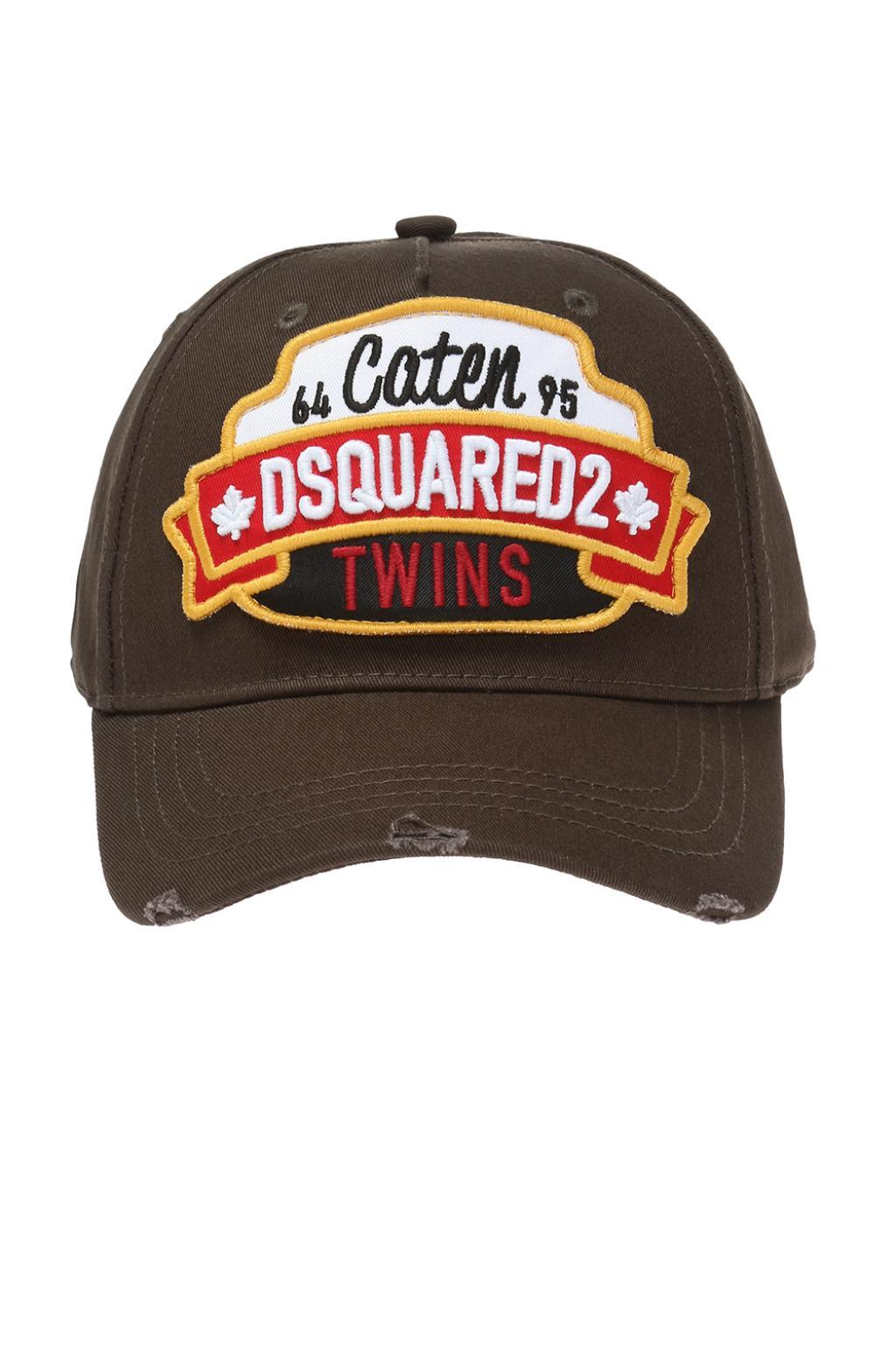 24797adc4e9 DSquared² Baseball Cap With A Logo in Green for Men - Lyst