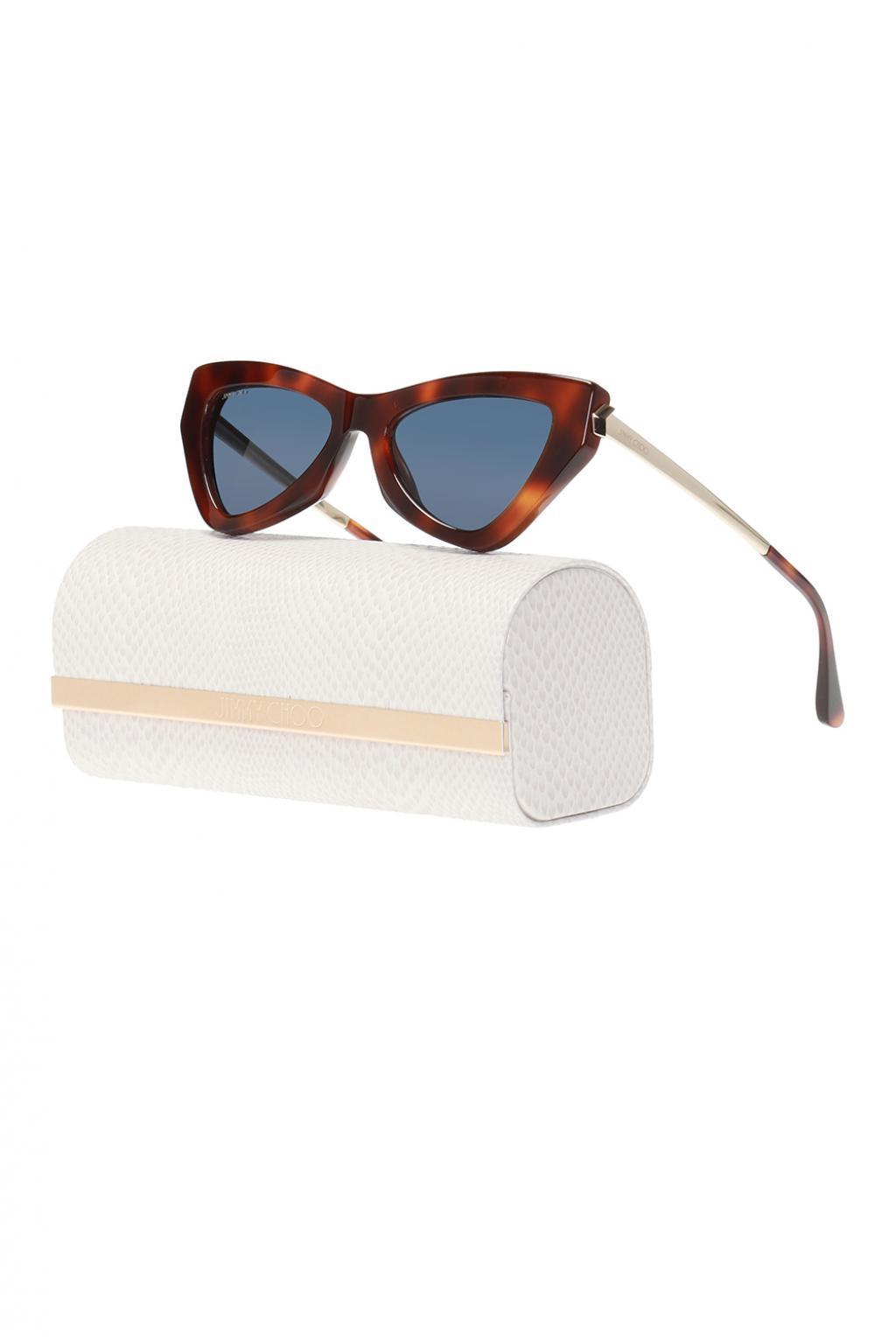 9fbac15fec70 Jimmy Choo - Brown  donna  Patterned Sunglasses - Lyst. View fullscreen