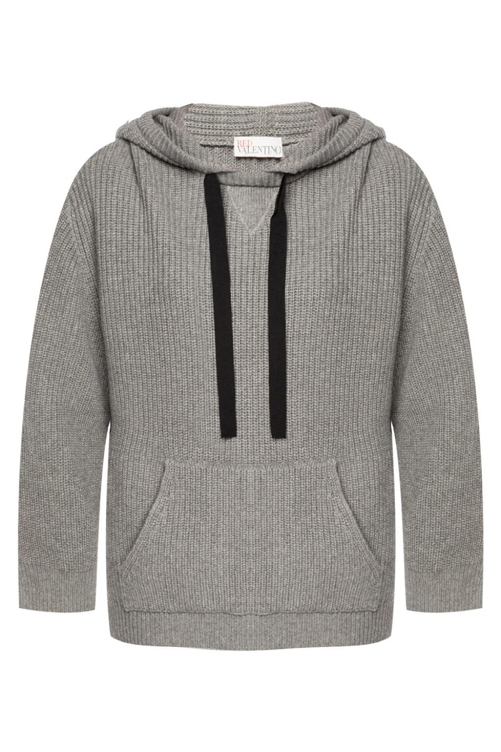 RED Valentino. Women's Gray Embroidered Sweatshirt