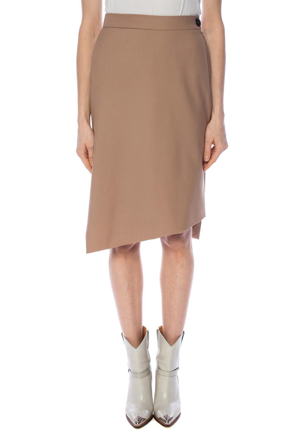 87b5755a7 Vivienne Westwood Skirt With Cut-out Details in Brown - Lyst
