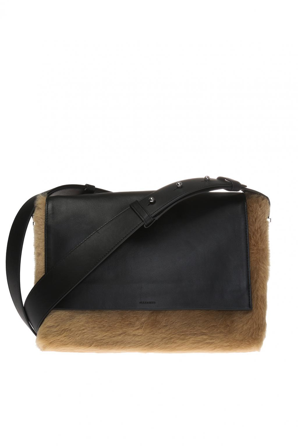 bd6749be04 Lyst - AllSaints  versailles Lea  Shoulder Bag in Black